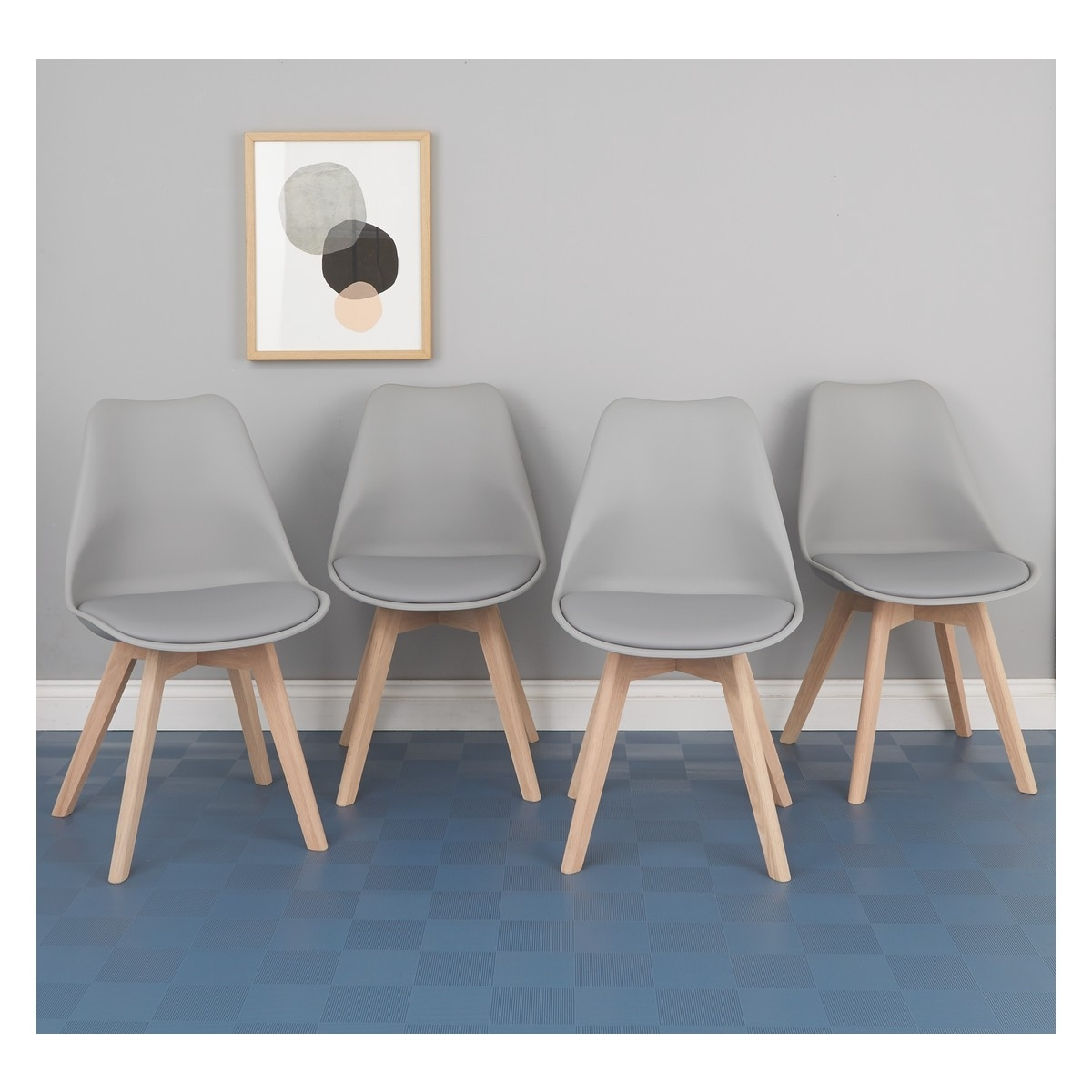 Grey Dining Chairs Pertaining To Trendy Jerry Set Of 4 Grey Dining Chairs (View 11 of 20)