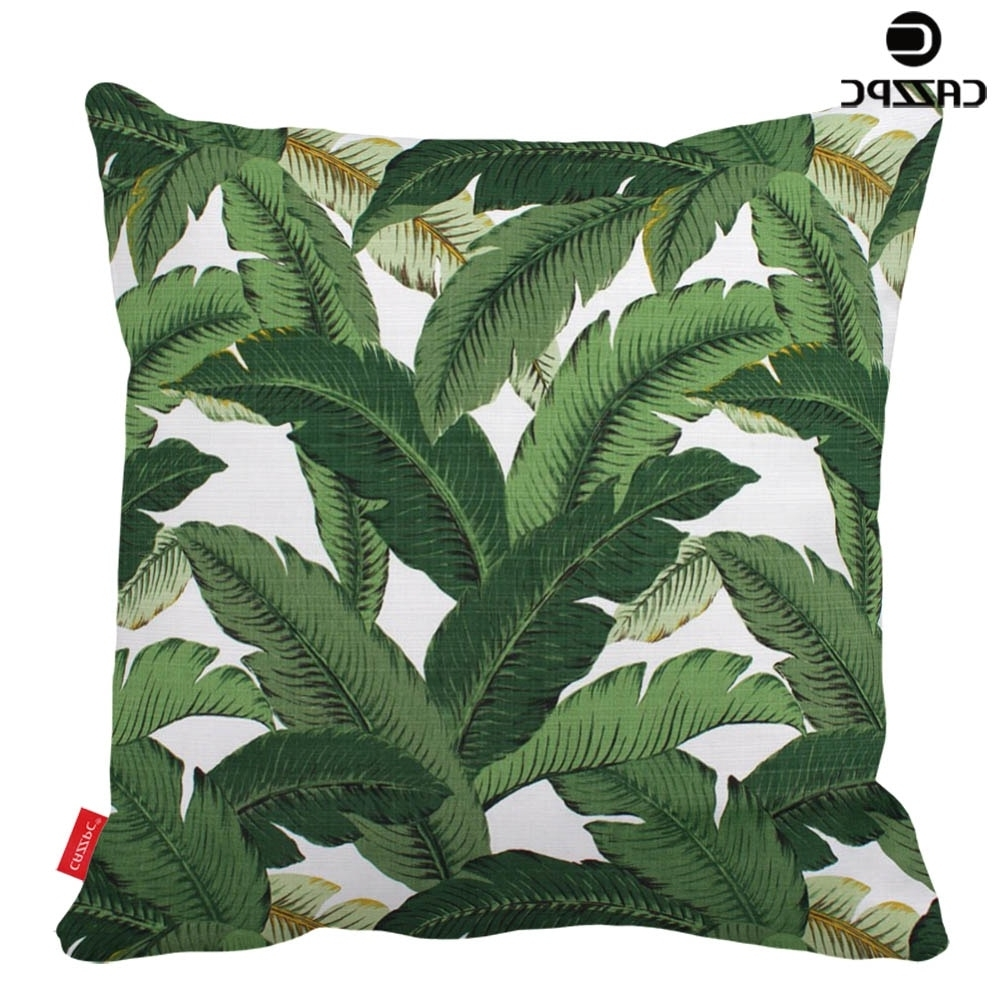 Hawaiian Garden Tropical Banana Leaves Palm Leaf Print Custom Car In Favorite Banana Leaf Chairs With Cushion (Gallery 3 of 20)
