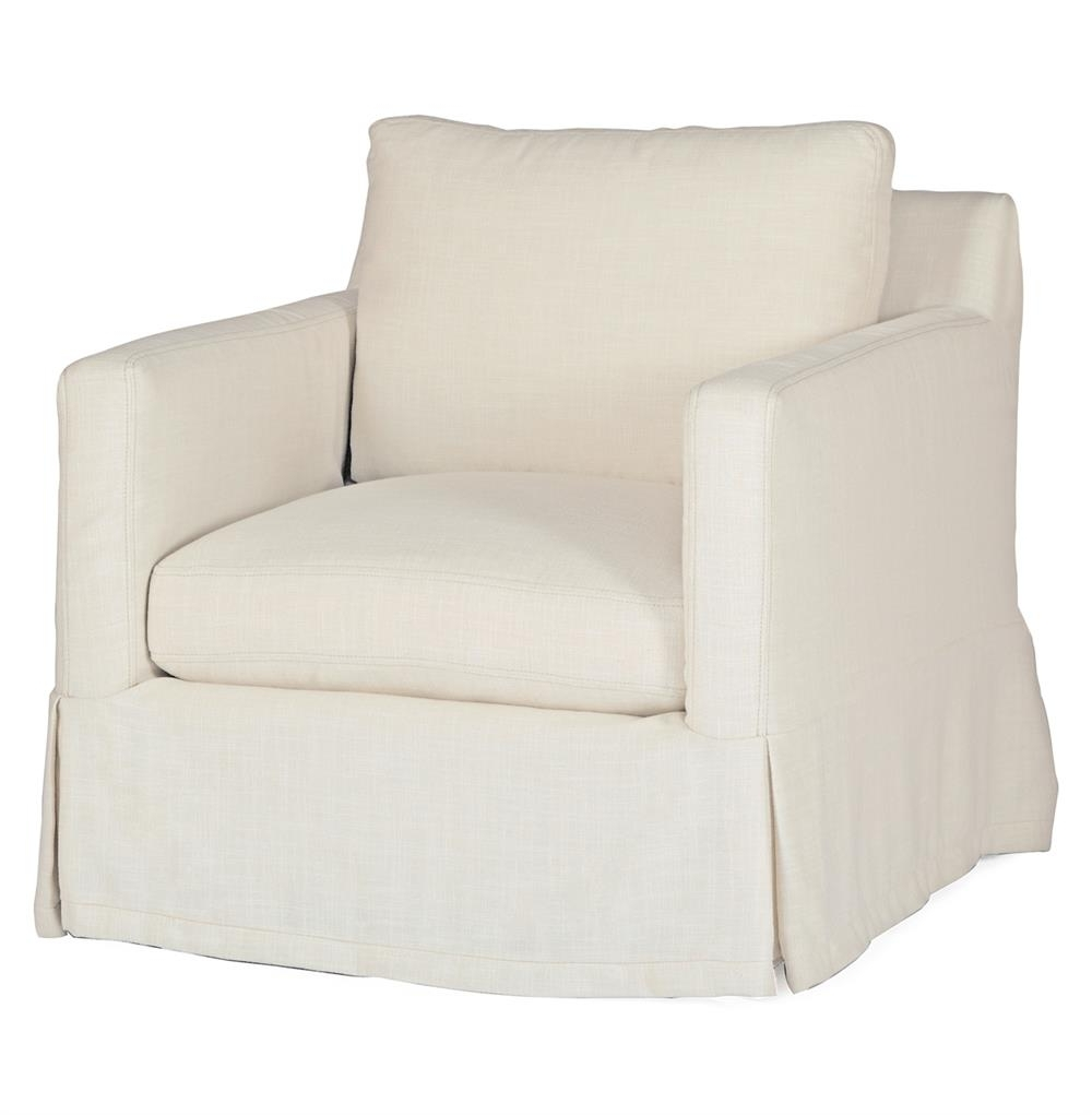 Hayes Casual Classic Ivory Linen Slipcover Swivel Arm Chair Pertaining To Most Recently Released Hayes Side Chairs (View 17 of 20)