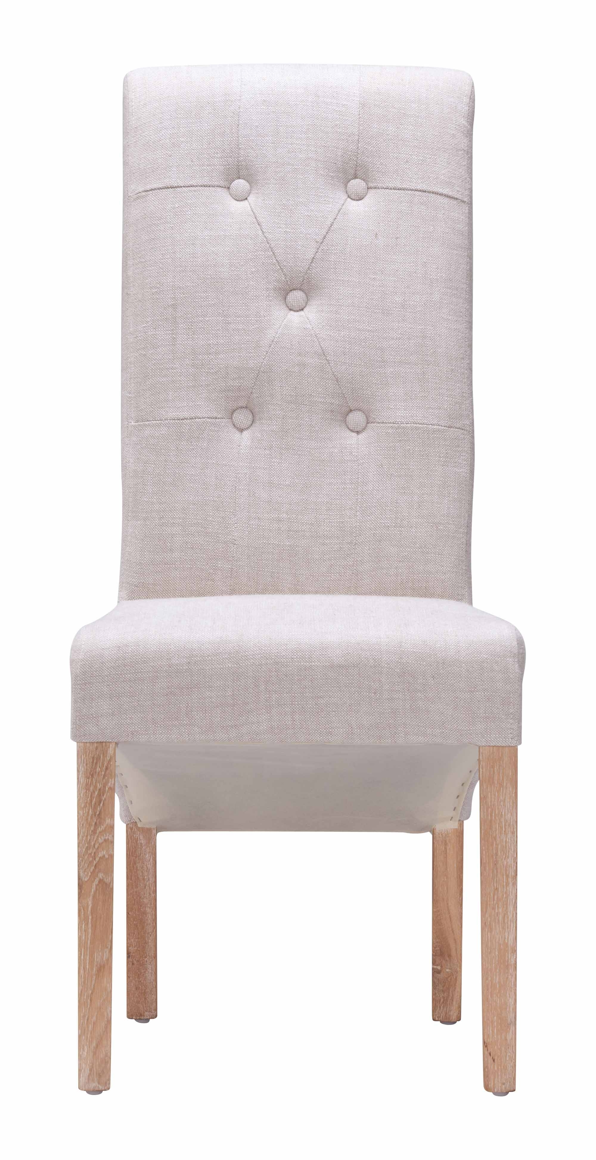 Hayes Valley Dining Chair Beige (set Of 2)zuo Modern Intended For 2018 Hayes Side Chairs (View 13 of 20)
