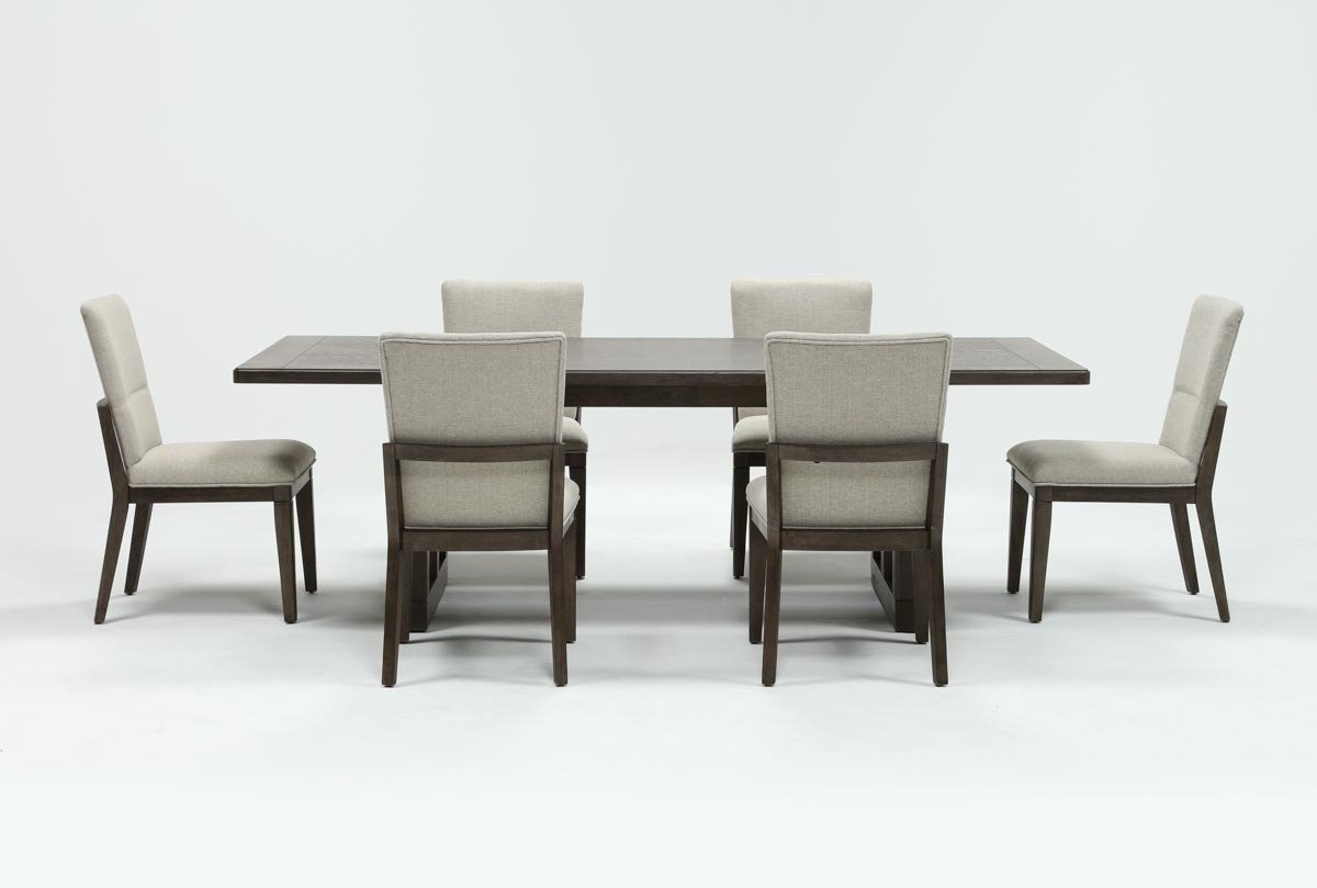 Helms 7 Piece Rectangle Dining Set With Side Chairs (View 4 of 20)