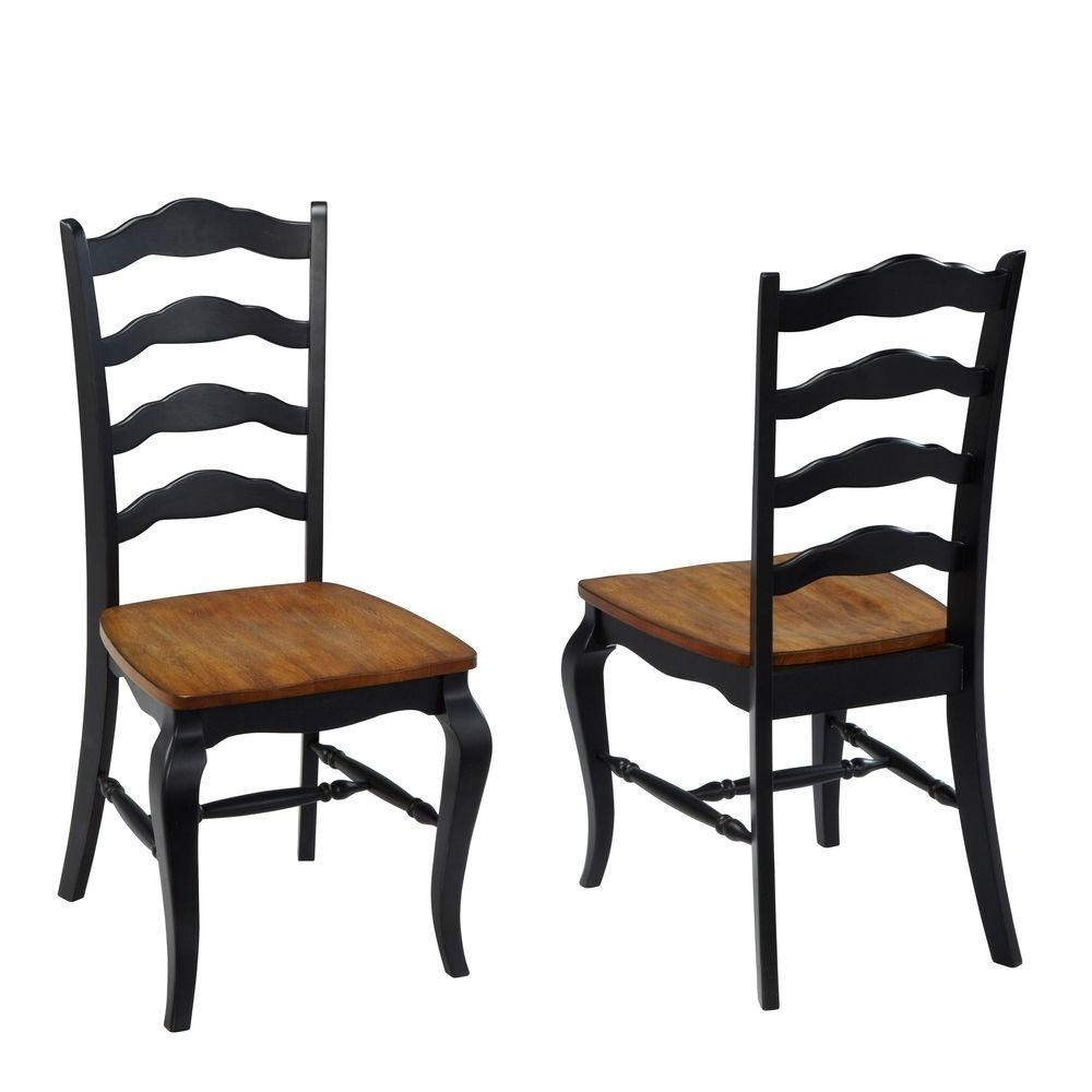 Home Styles French Countryside Rubbed White Oak Dining Chair (Set Of Intended For Well Liked Carmel Oak Side Chairs (Gallery 17 of 20)