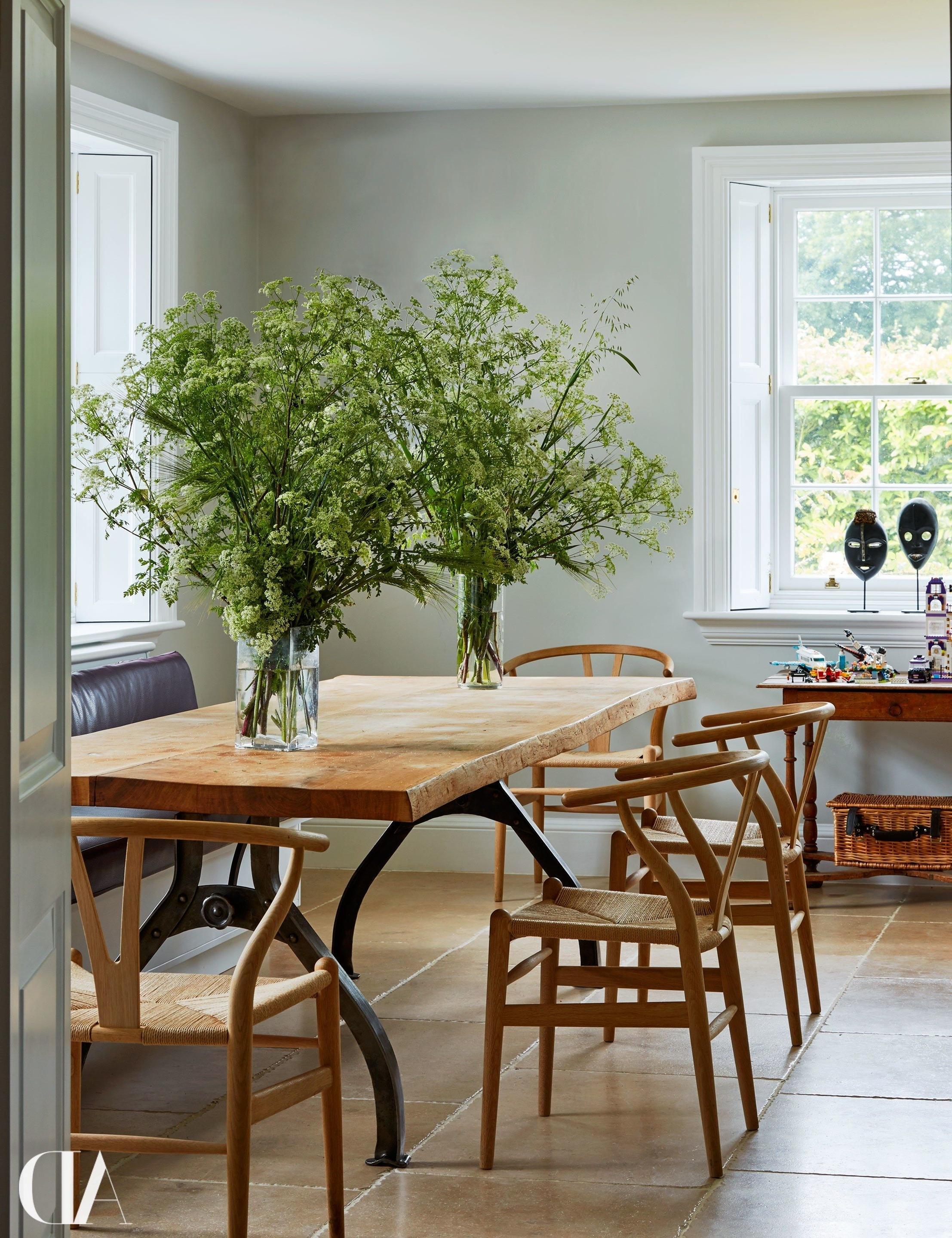 Inside India Hicks And David Flint Wood's Charming English Country Throughout Well Liked Magnolia Home Emery Ivory Burlap Side Chairs (Gallery 17 of 20)