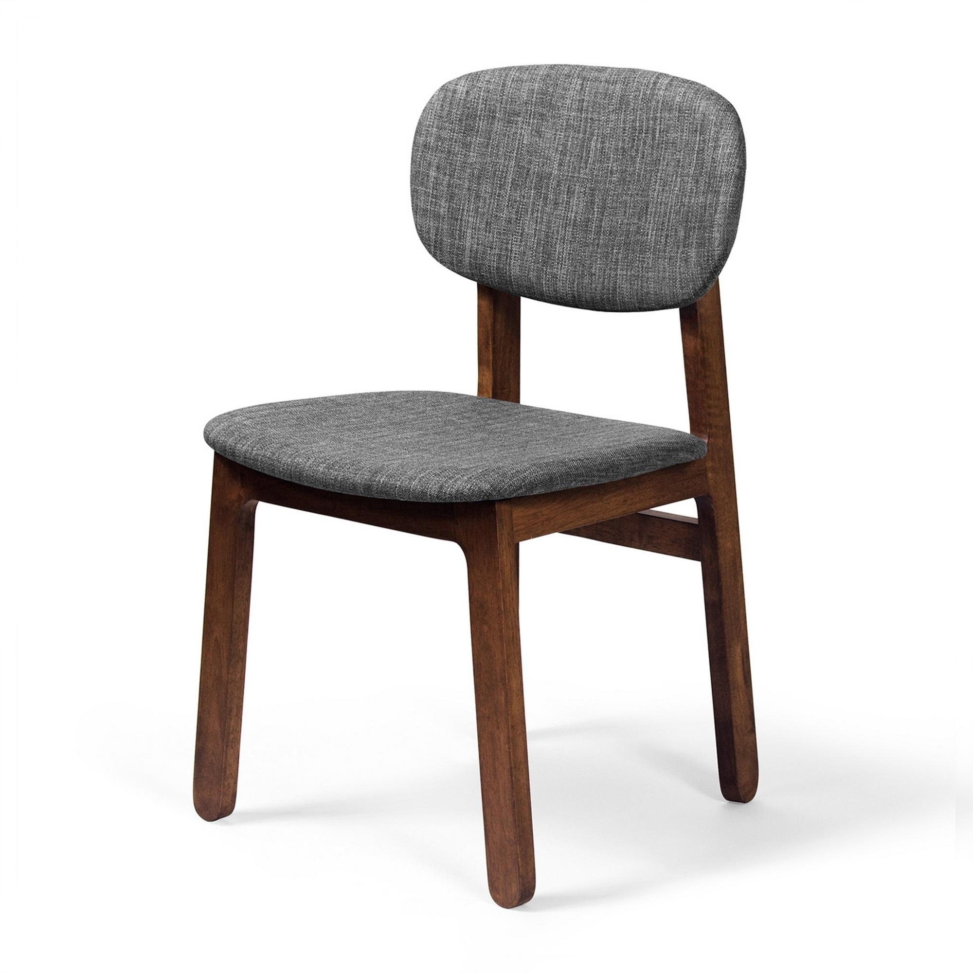 Jaxon Grey Upholstered Side Chairs With Newest 2Pc Set Rockwell Side Chair  Walnut/grey (Ae448 Walnut Grey)Aeon (Gallery 20 of 20)