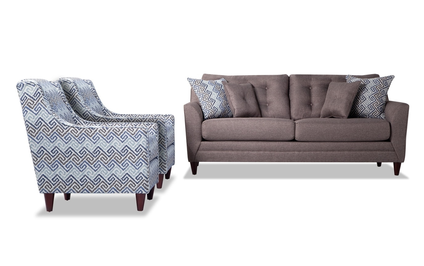 Jaxon Sofa & 2 Accent Chairs (View 12 of 20)