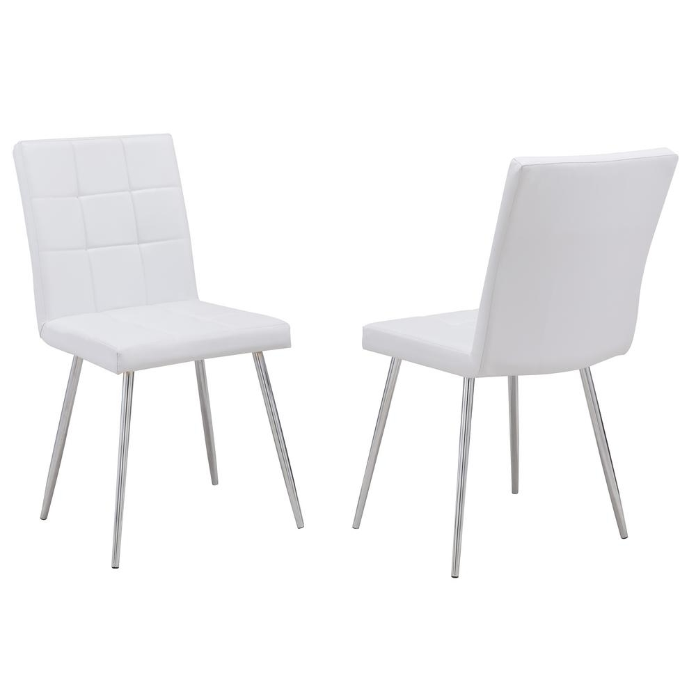 Jaxon Upholstered Side Chairs With Regard To Best And Newest Carolina Cottage Jaxon White Leatherette Upholstered Dining Chair (View 7 of 20)