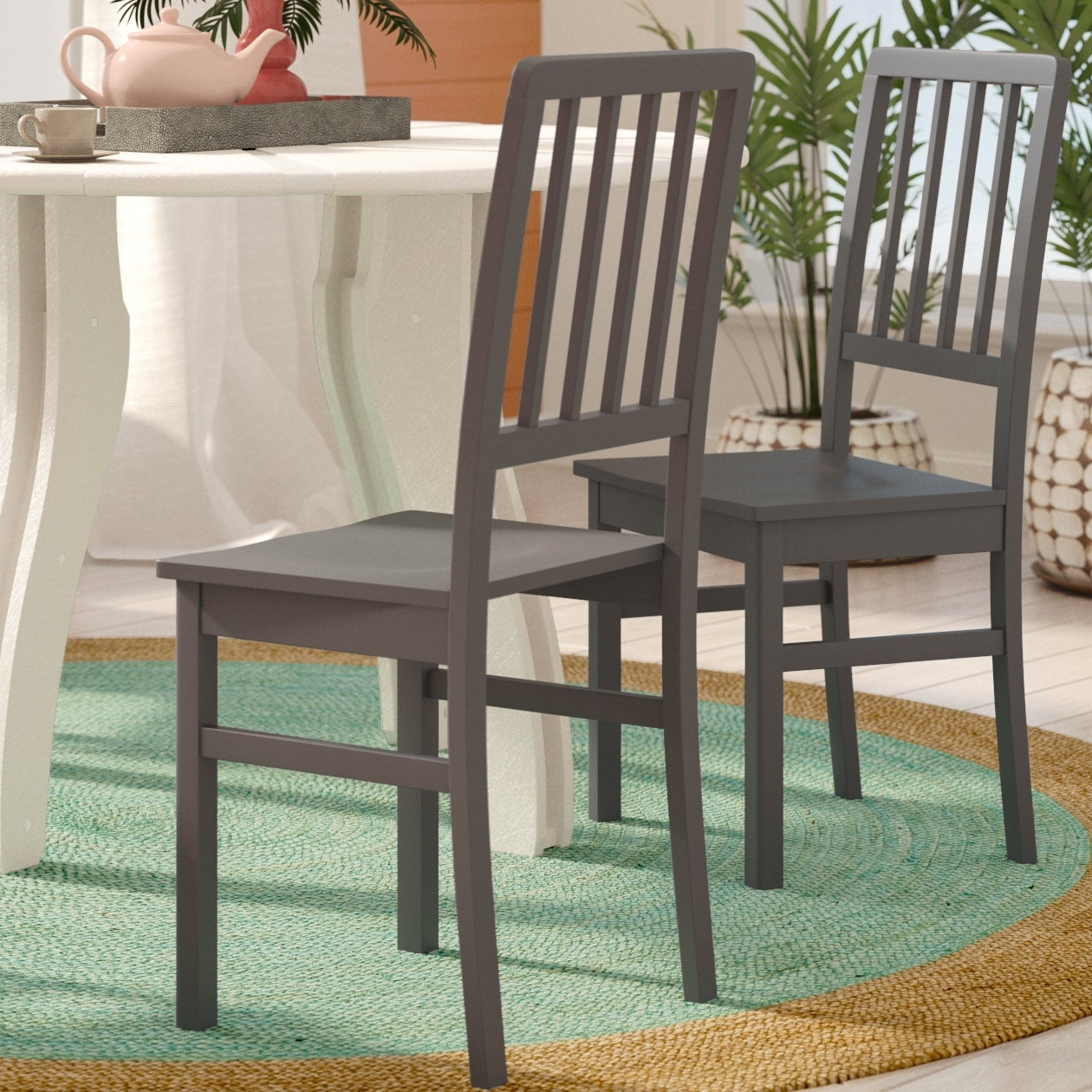 Jaxon Wood Side Chairs For 2018 Beachcrest Home Glenville Solid Wood Dining Chair & Reviews (View 17 of 20)