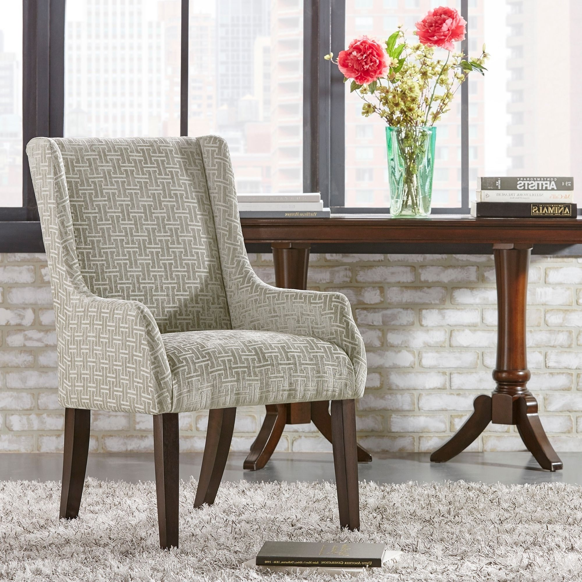 Jourdan Grey Link Sloped Arm Hostess Chairinspire Q (grey For Most Popular Hayden Cognac Side Chairs (View 19 of 20)