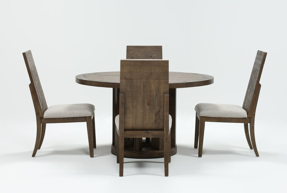 Lassen Side Chairs With Recent Lassen 5 Piece Round Dining Set (View 8 of 20)