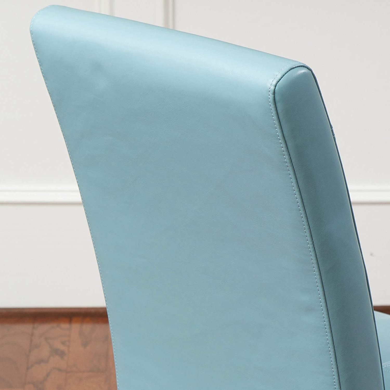 Latest Amazon – Stella Teal Blue Leather Dining Chair (Set Of 2) – Chairs With Regard To Celler Teal Side Chairs (View 9 of 20)