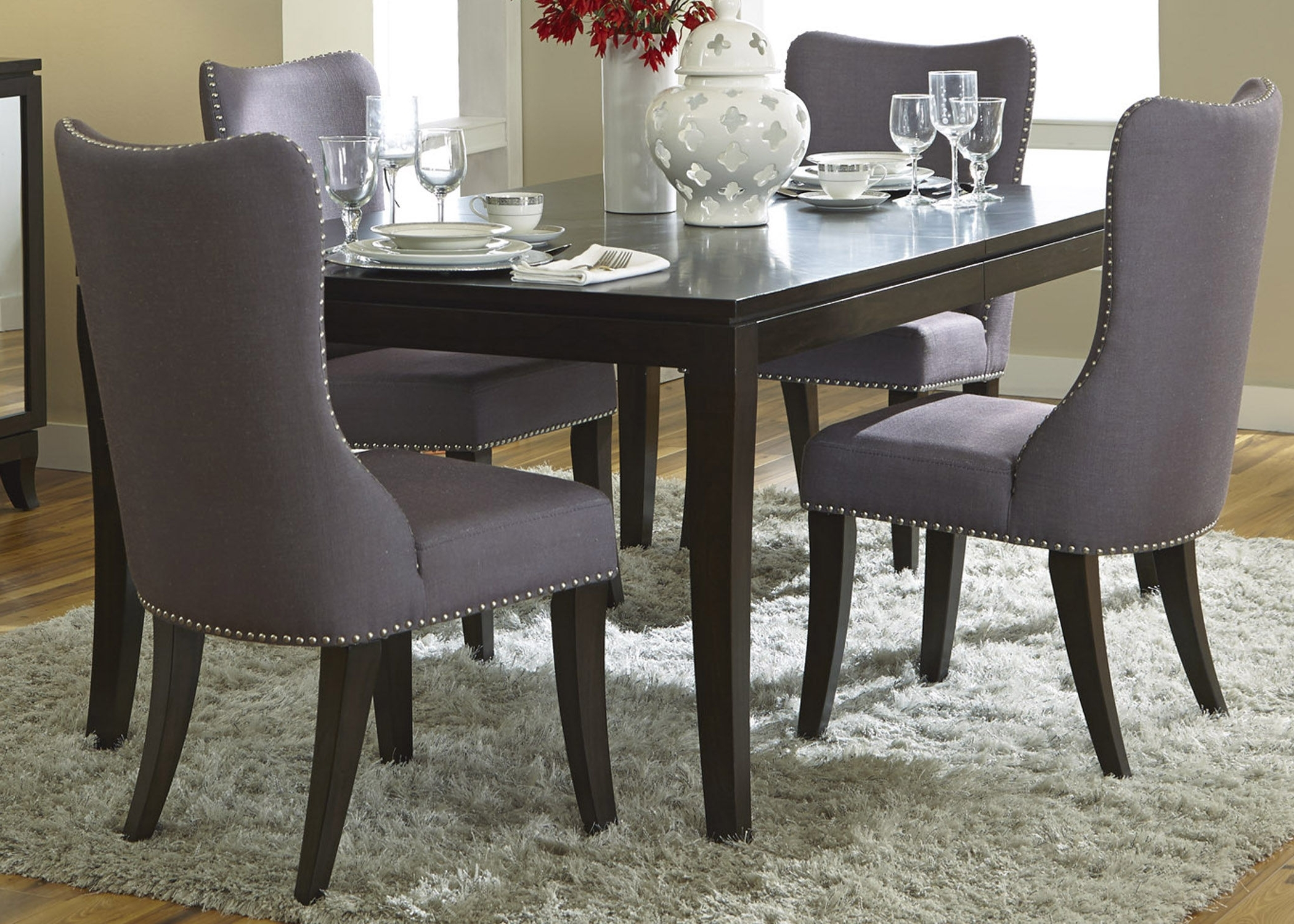 Latest Beautiful Dining Room Chairs Gray Light Of Dining Room Patterned Pertaining To Pilo Grey Side Chairs (View 7 of 20)
