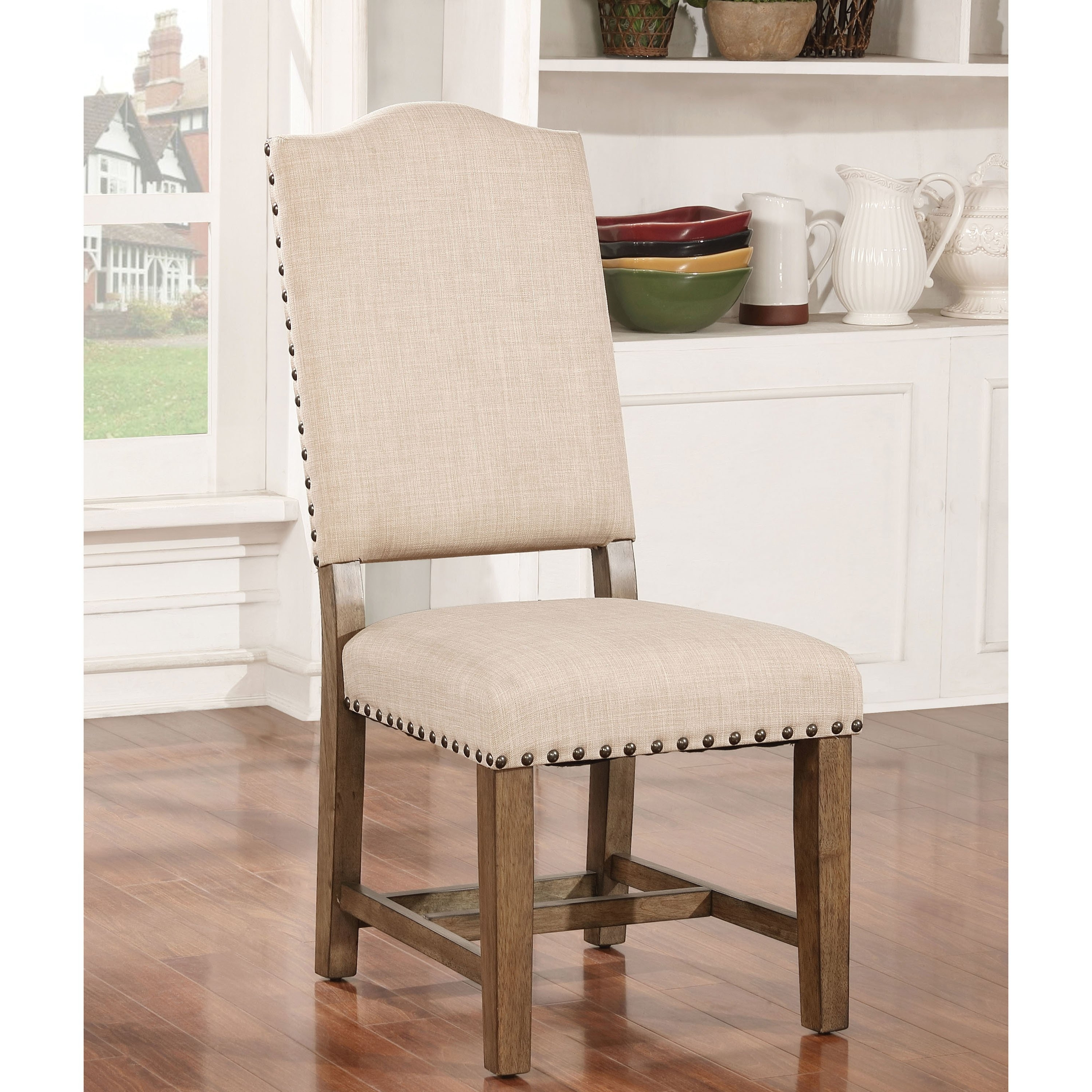 Latest Cooper Upholstered Side Chairs Intended For Shop Furniture Of America Cooper Rustic Light Oak Side Chair (Set Of (View 12 of 20)