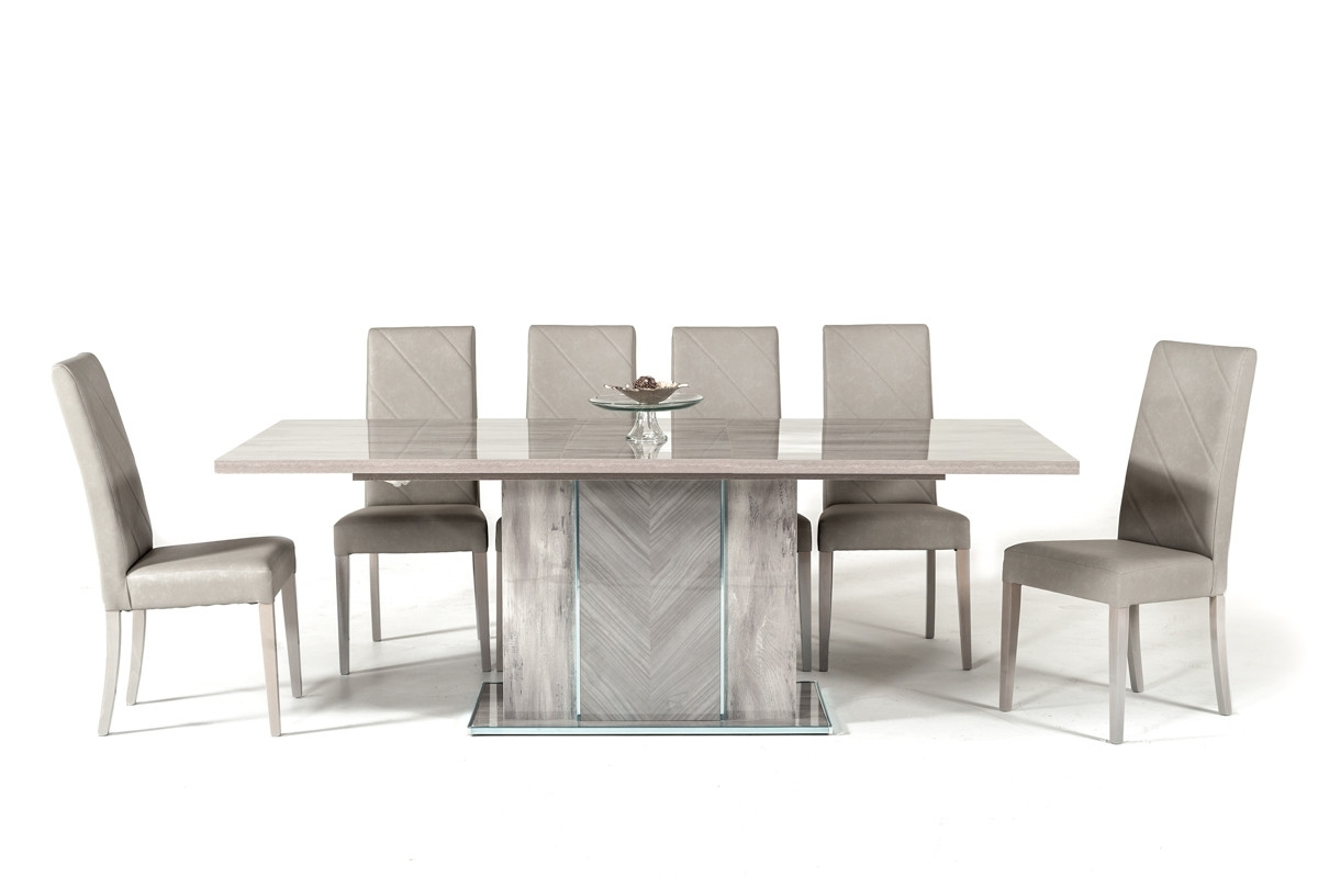 Latest Nova Domus Alexa Italian Modern Grey Extendable Dining Table Pertaining To Alexa Grey Side Chairs (View 15 of 20)