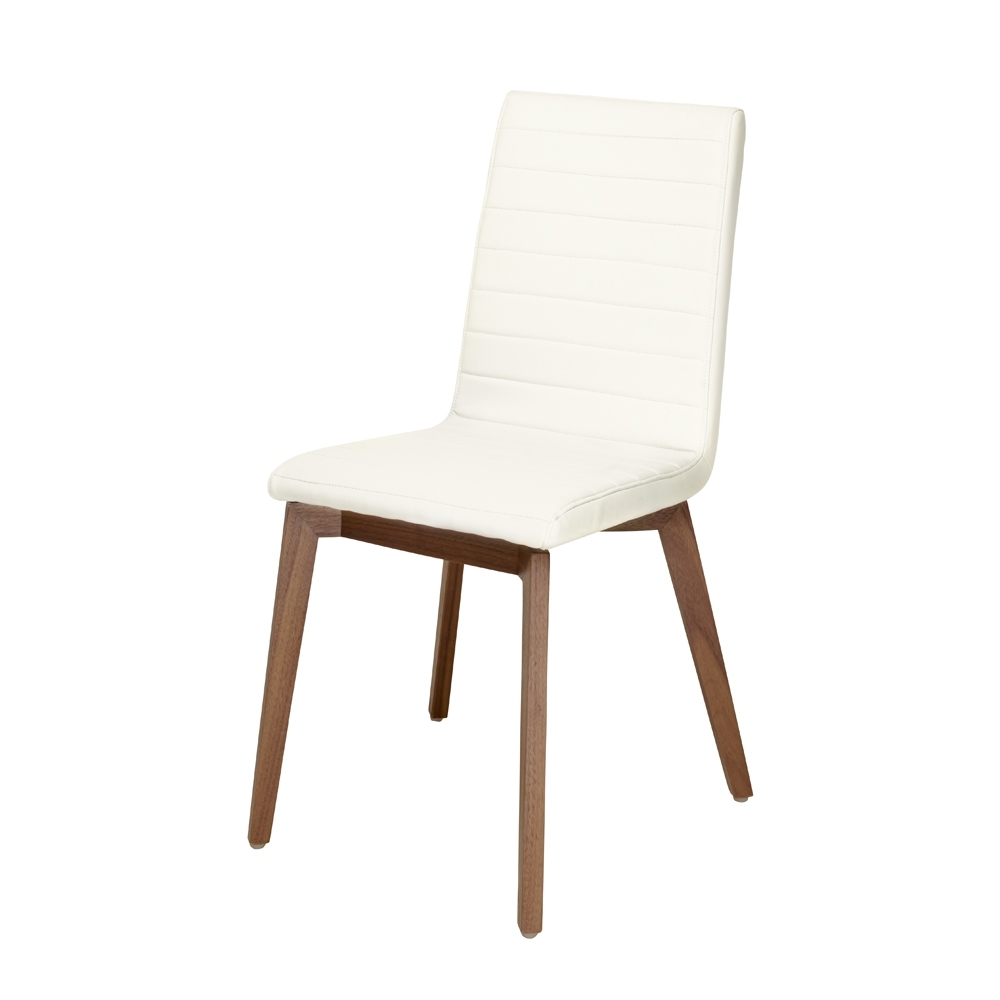Latest Parquet Dining Chairs For Parquet Dining Chair Faux Leather White – Dwell (View 19 of 20)