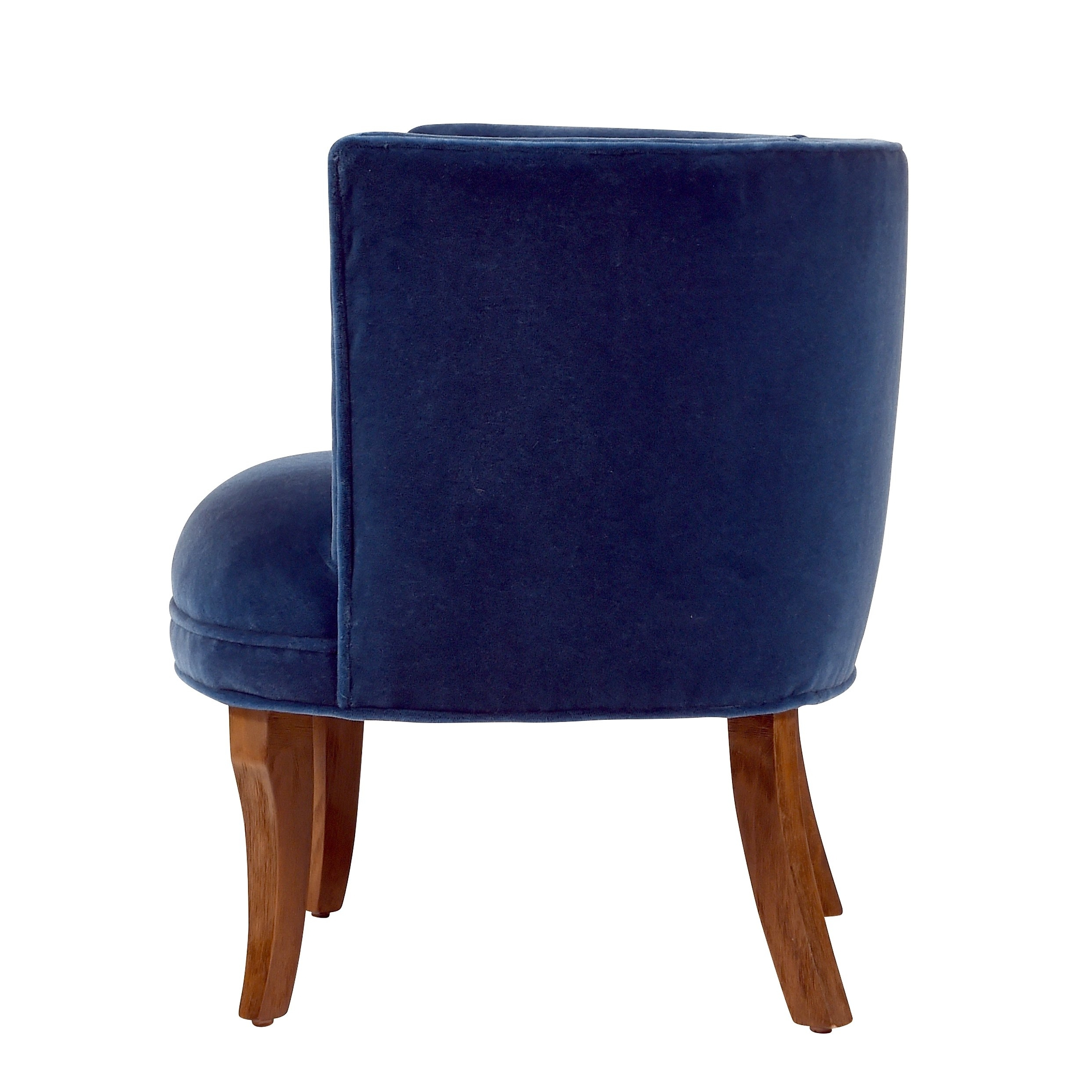 Latest Shop Jaxon Bella Navy Blue Velvet Upholstered Armchair – Free With Jaxon Grey Upholstered Side Chairs (Gallery 18 of 20)