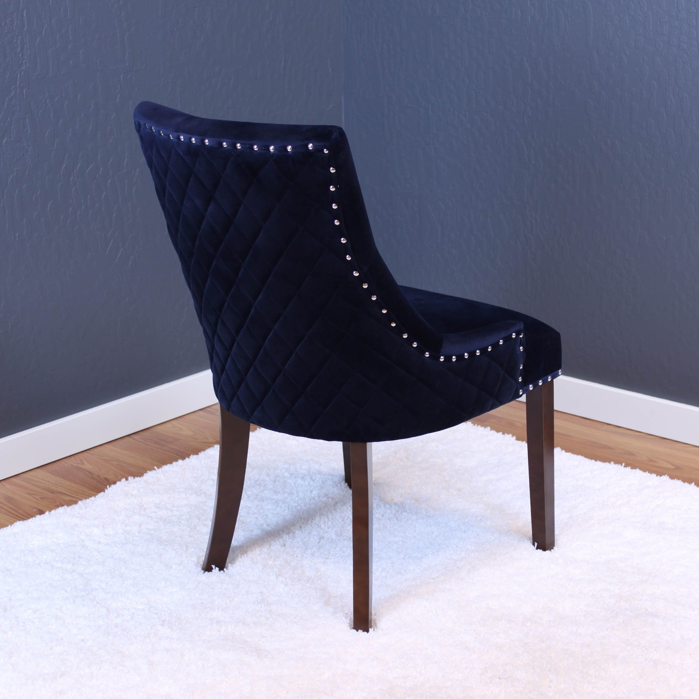 Latest Shop Lemele Tufted Velvet Dining Chairs (Set Of 2) – On Sale – Free Inside Pilo Blue Side Chairs (Gallery 4 of 20)
