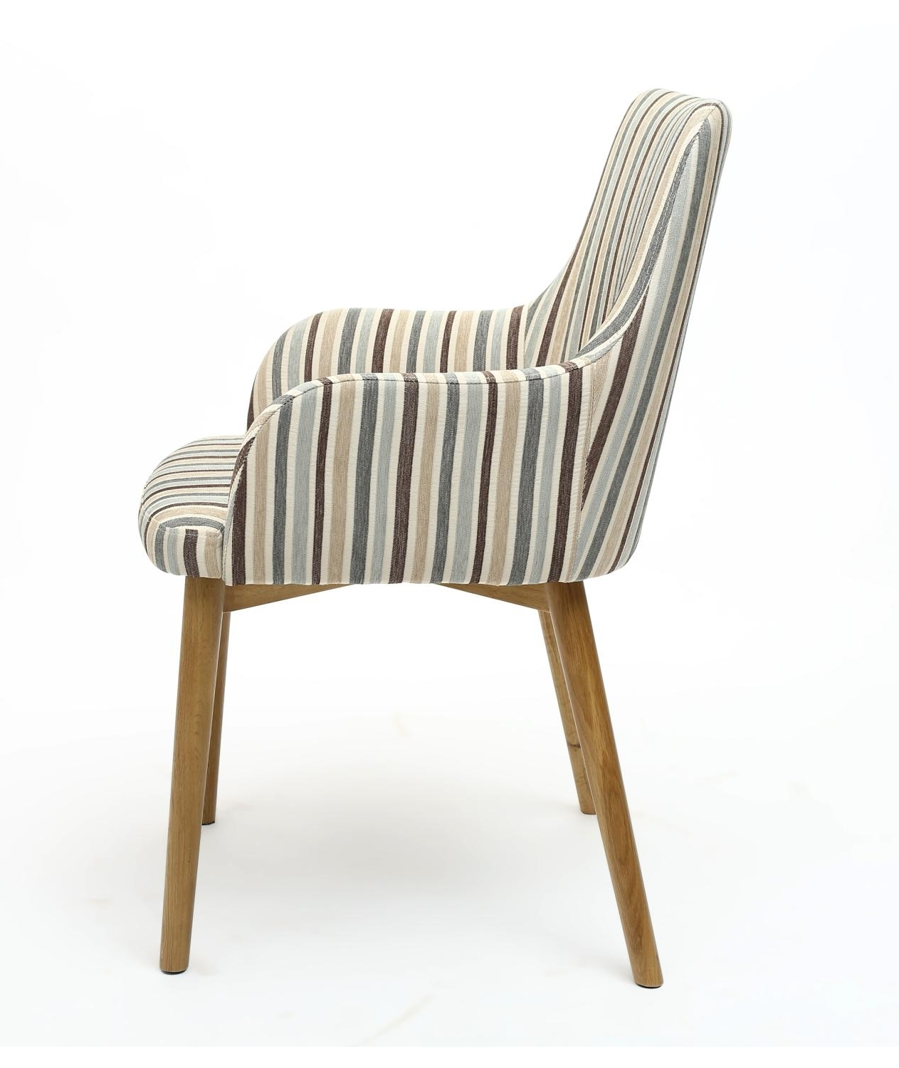 Latest Sidcup Duck Egg Blue Stripe Dining Chair – L'amore Furnishings Throughout Blue Stripe Dining Chairs (View 10 of 20)