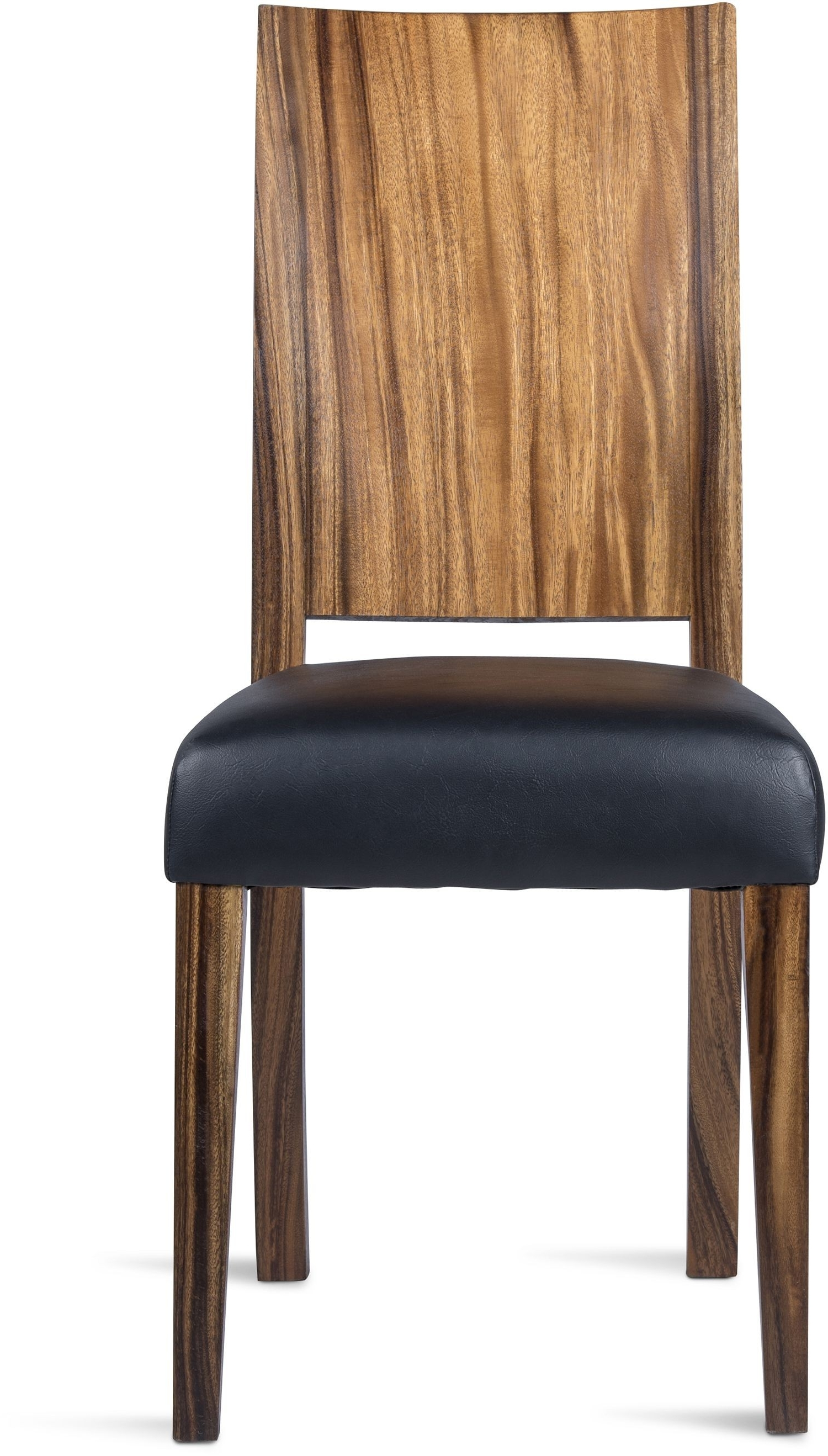 Live Edge Chair Black Leather With Most Recent Helms Side Chairs (View 7 of 20)