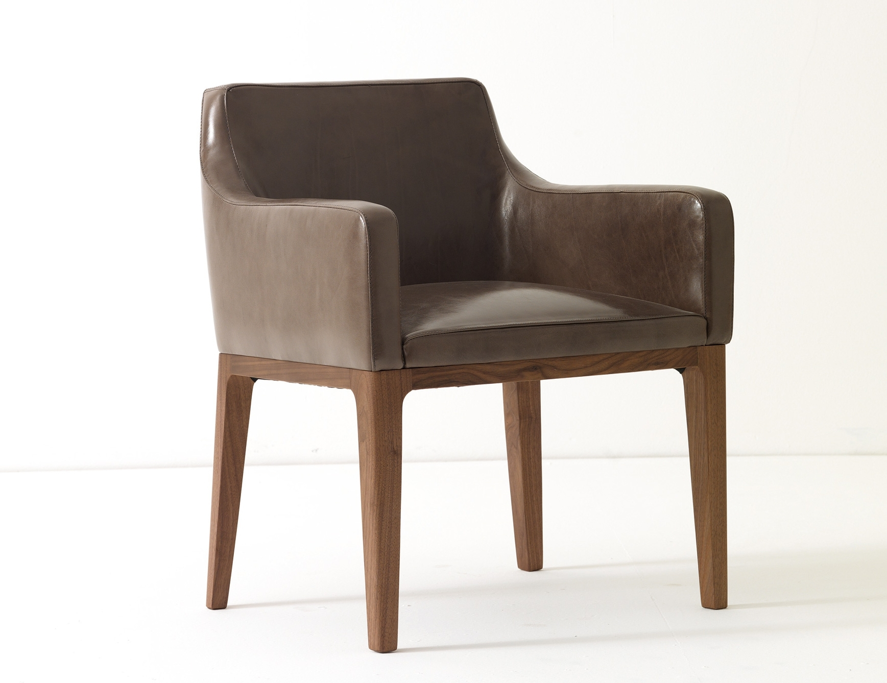 Lola Side Chairs Within Well Liked Ulivi Lola Dining Armchair Brown Leather (View 14 of 20)