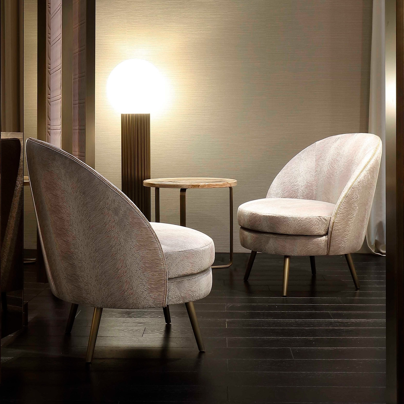 Luxury Italian Designer Perla Lounge Chair – Italian Designer Intended For Widely Used Perla Side Chairs (View 7 of 20)