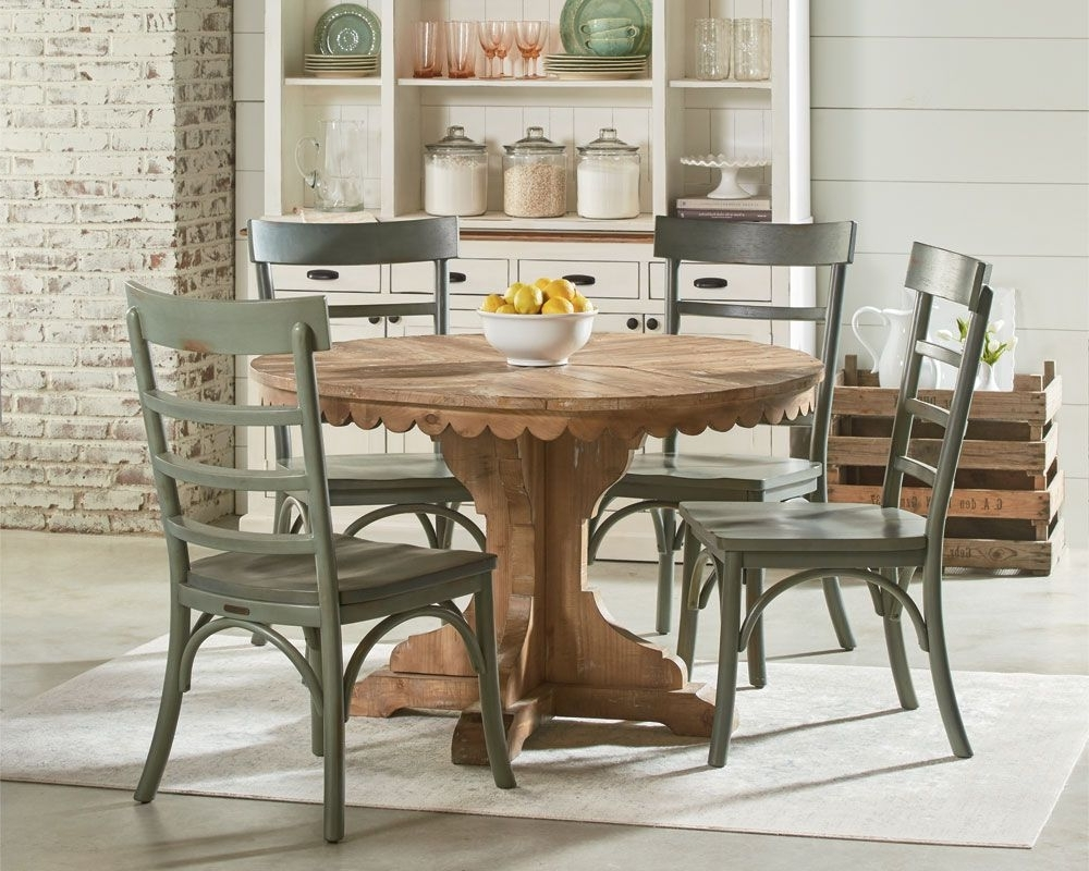 Magnolia Home Kempton White Side Chairs Bjg In Most Popular Magnolia Home – Top Tier Pedestal Table Setting (View 9 of 20)