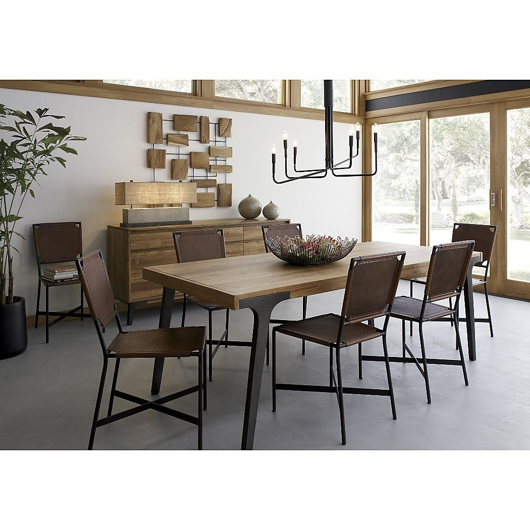 "Magnolia Home Kempton White Side Chairs Bjg With Most Popular Lakin 81"" Recycled Teak Extendable Dining Table (View 12 of 20)"