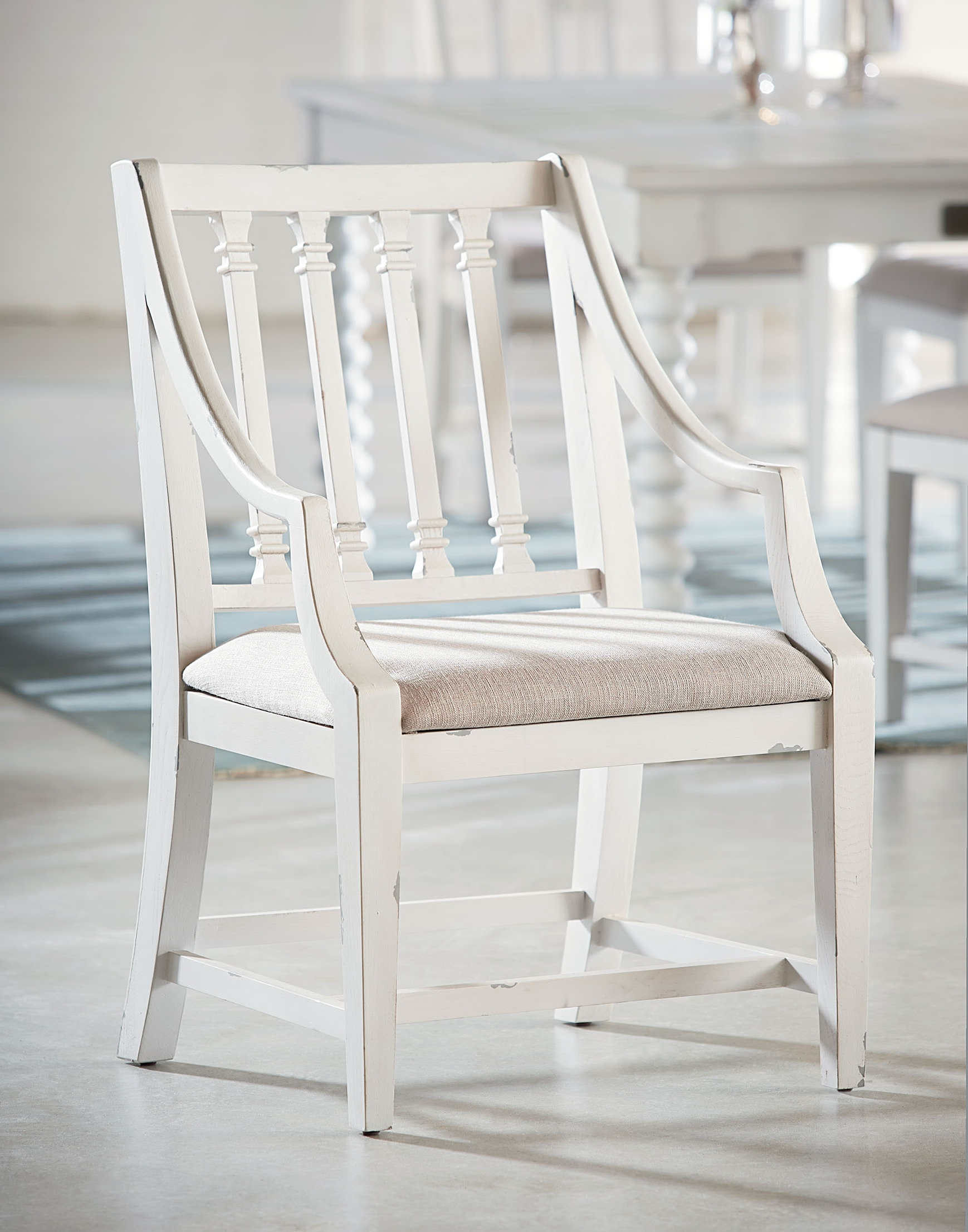 Magnolia Home Revival Jo's White Arm Chairs Throughout Most Popular Revival Arm Chair – Magnolia Home (View 8 of 20)