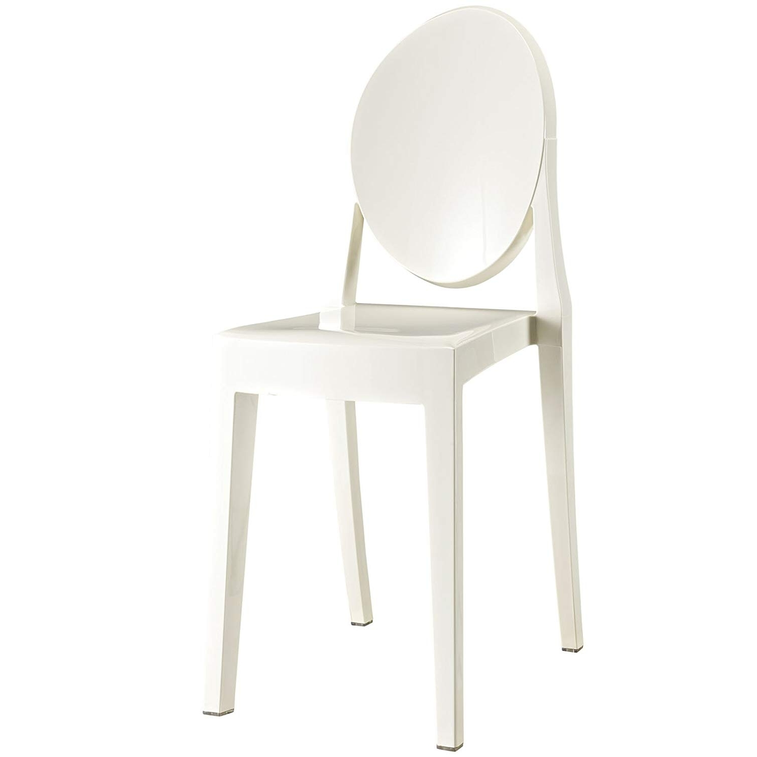 Mandy Paper White Side Chairs In Favorite Amazon – Modway Casper Modern Acrylic Dining Side Chair In White (View 6 of 20)
