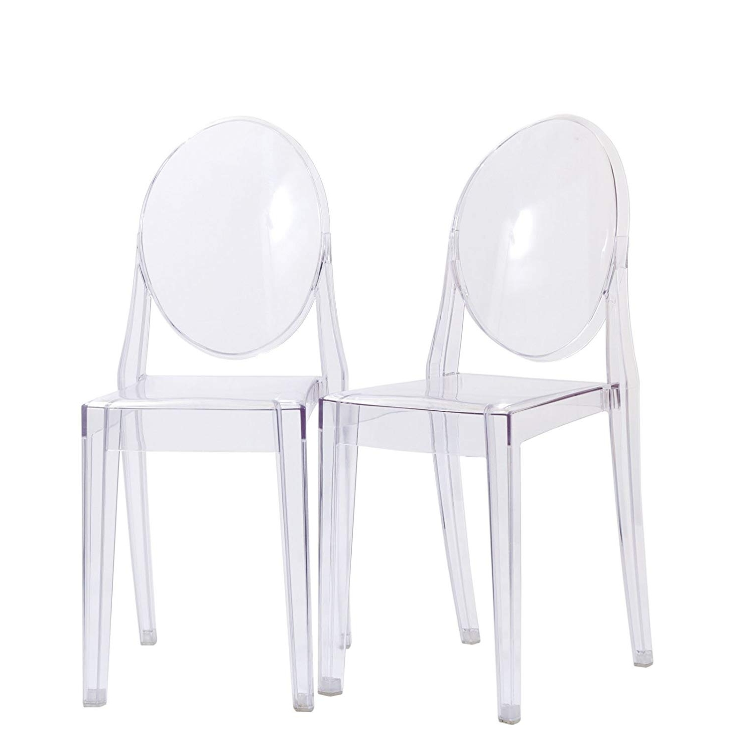 Mandy Paper White Side Chairs Inside Well Liked Amazon – Modway Casper Modern Acrylic Dining Side Chairs In (View 10 of 20)