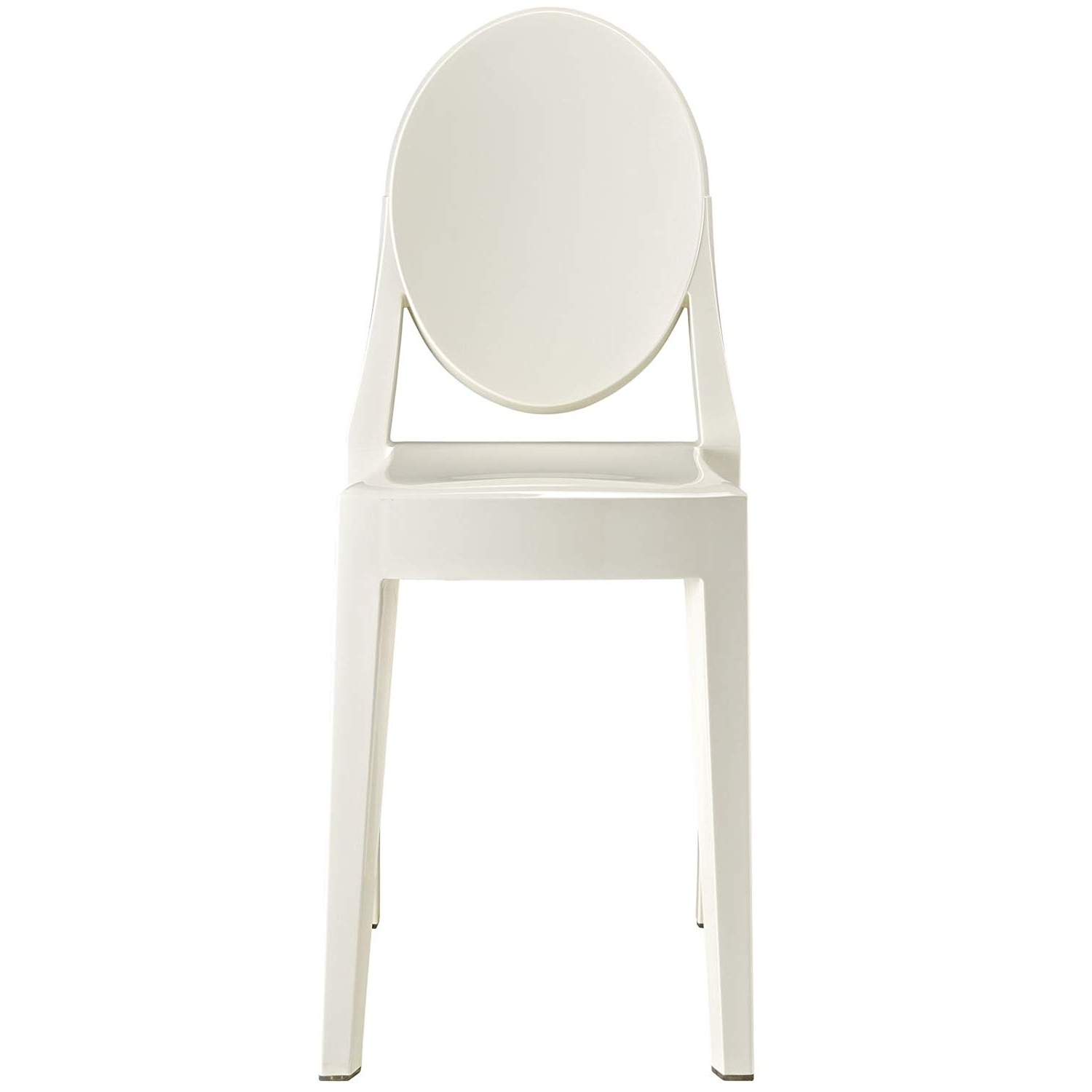 Mandy Paper White Side Chairs Regarding Latest Amazon – Modway Casper Modern Acrylic Dining Side Chair In White (View 11 of 20)
