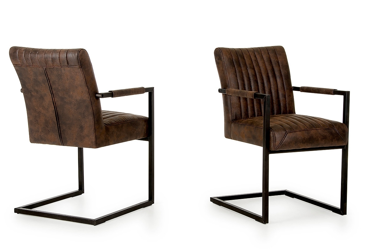 Marfa – Modern Cognac Dining Arm Chair (set Of 2) In Current Hayden Cognac Side Chairs (View 8 of 20)