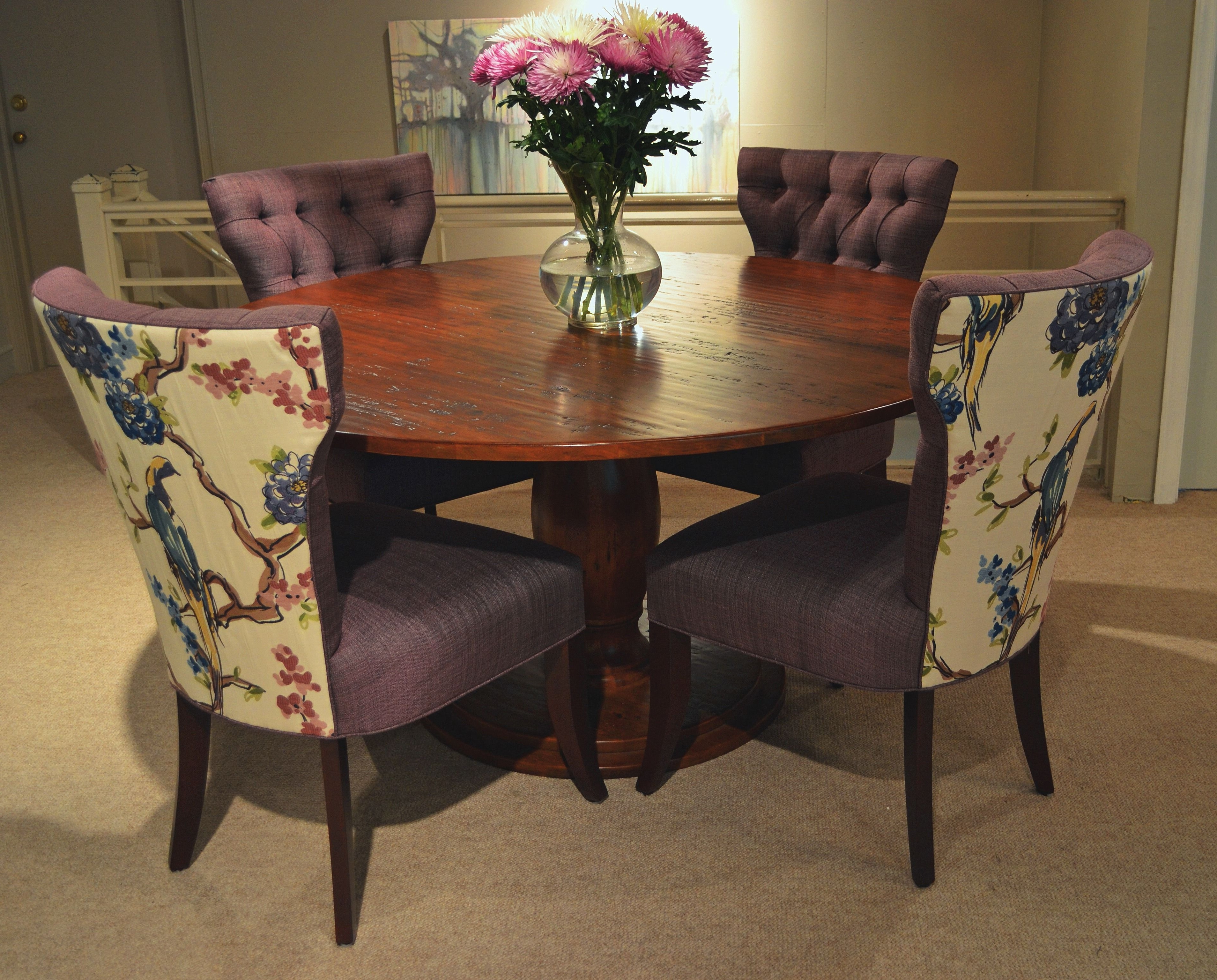 Market Side Chairs Within Most Current Fitzgerald 01 524 Tufted Back Klismos Side Chairs – April 2012 (Gallery 13 of 20)