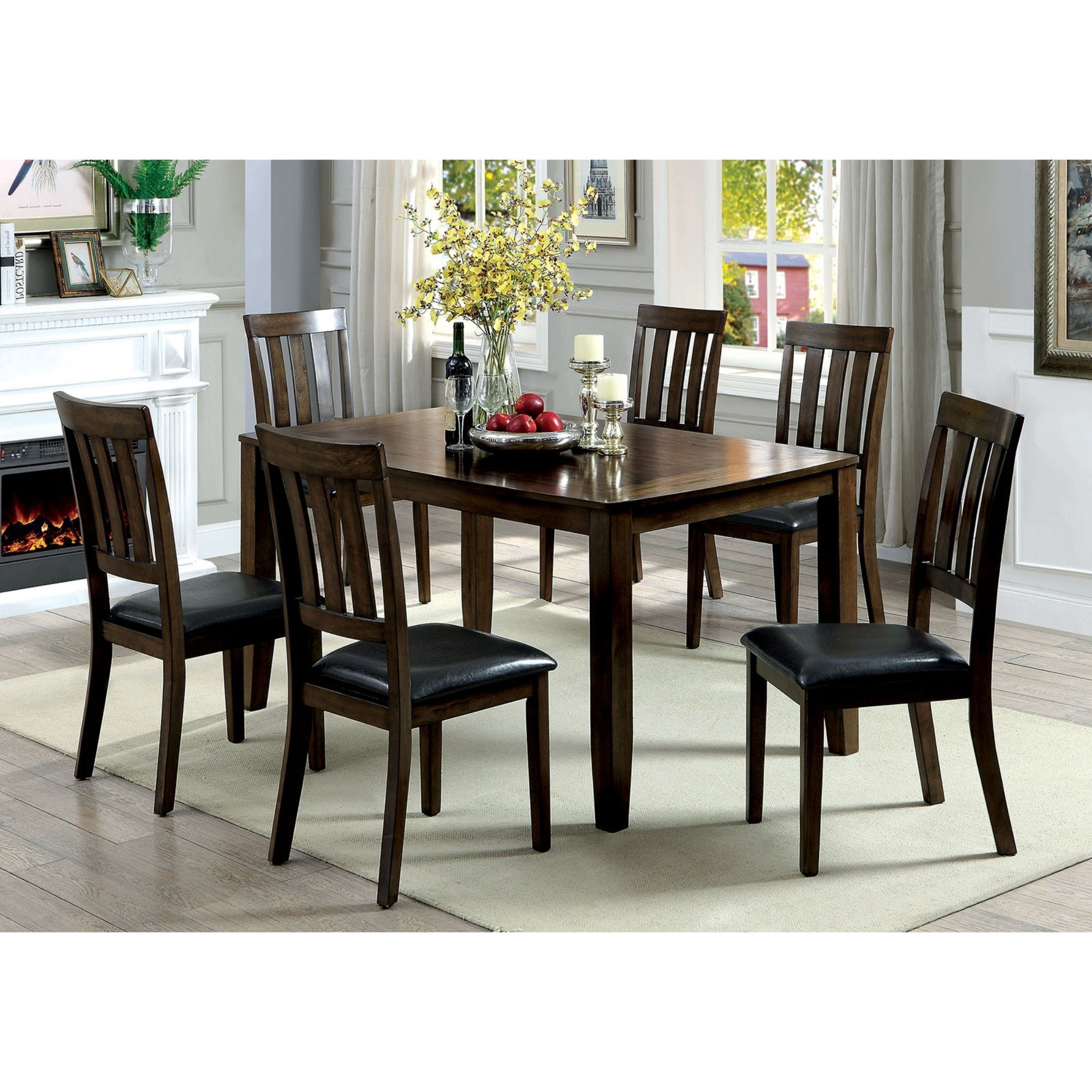 Millwood Pines Devon Wooden 7 Piece Counter Height Dining Table Set For Favorite Candice Ii Slat Back Host Chairs (View 11 of 20)