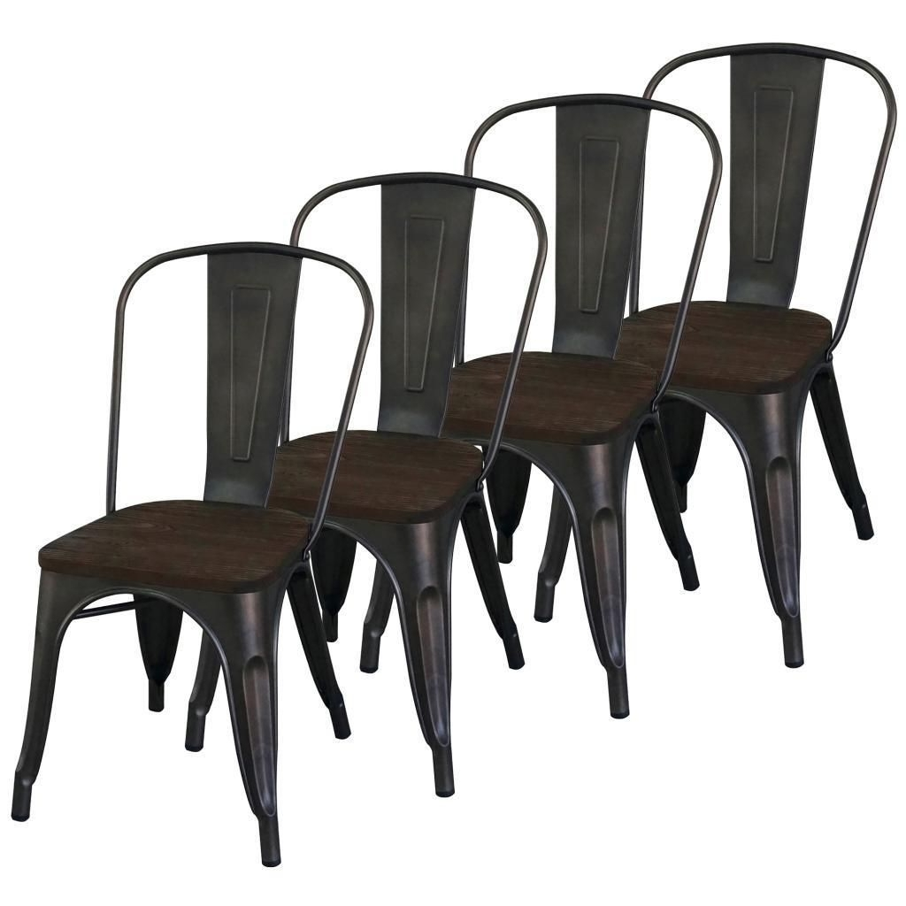 Moda Grey Side Chairs With Regard To Famous Worldwide Modus Industrial Style Gunmetal Side Chair (Set Of  (View 11 of 20)