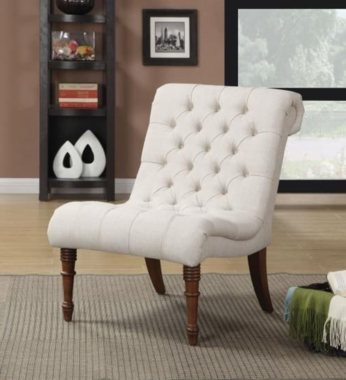 Most Current Armless Oatmeal Dining Chairs Throughout Oatmeal Tufted Armless Chair – Woodstock Furniture & Mattress (View 13 of 20)