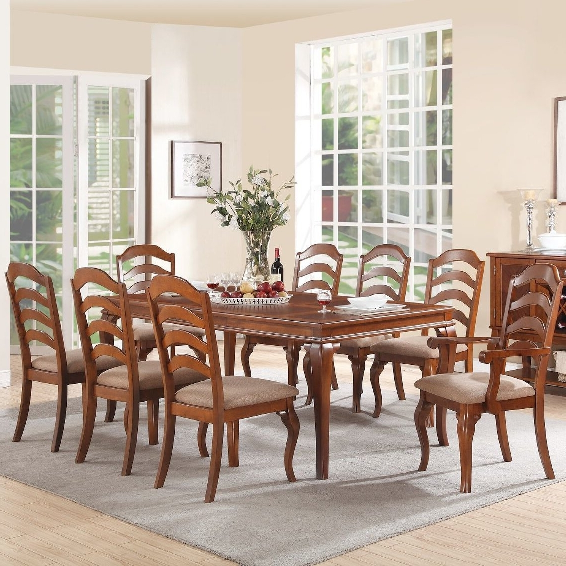 Most Current Gunner Side Chairs Regarding Alcott Hill Gunner 9 Piece Dining Set & Reviews (View 12 of 20)