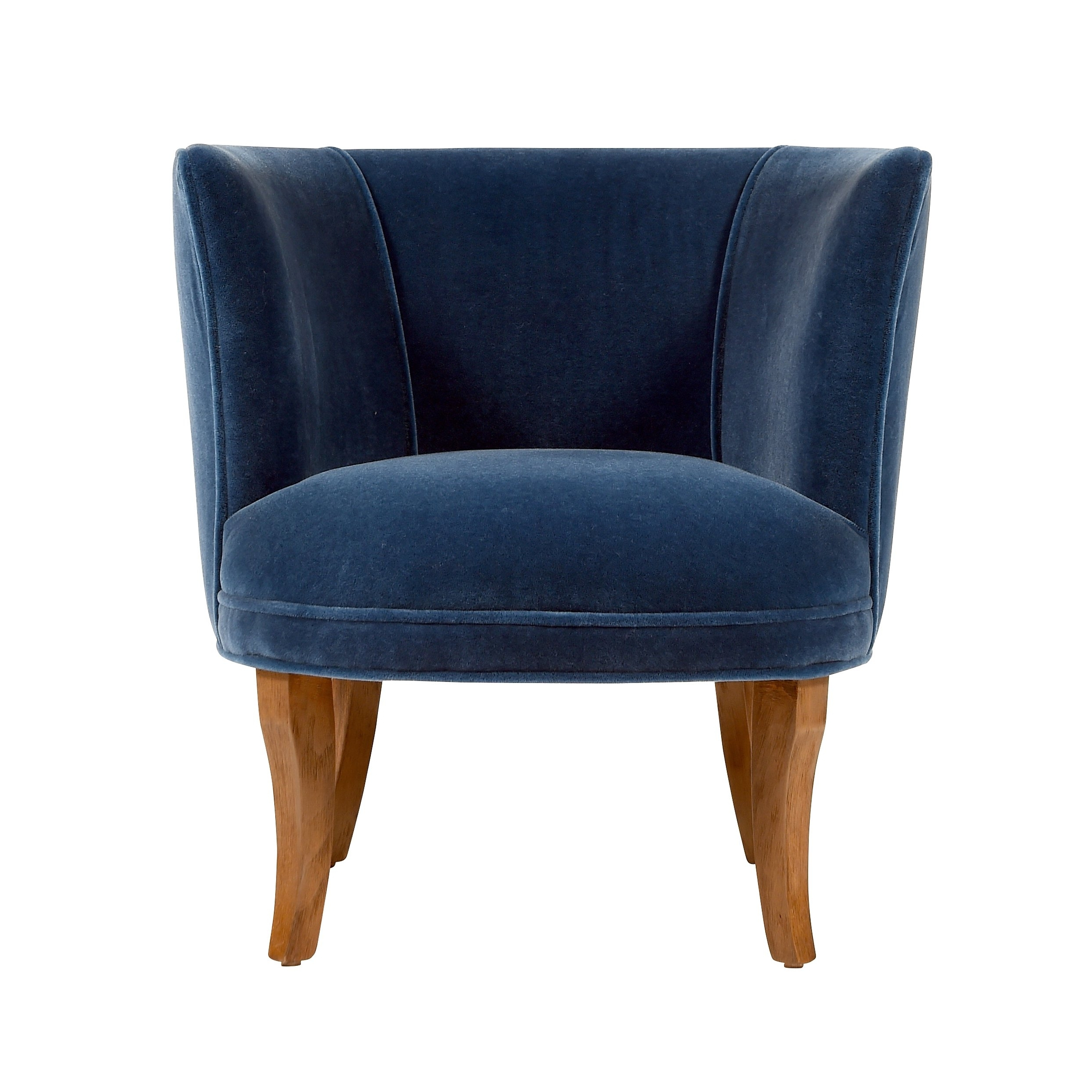 Most Current Jaxon Upholstered Side Chairs Intended For Shop Jaxon Bella Navy Blue Velvet Upholstered Armchair – Free (View 10 of 20)