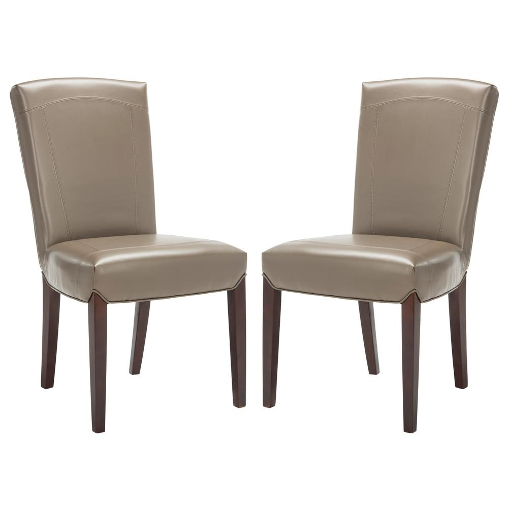 Most Current Safavieh Ken Clay Bicast Leather Side Chair (Set Of 2) Hud8200B Set2 With Regard To Clay Side Chairs (View 10 of 20)