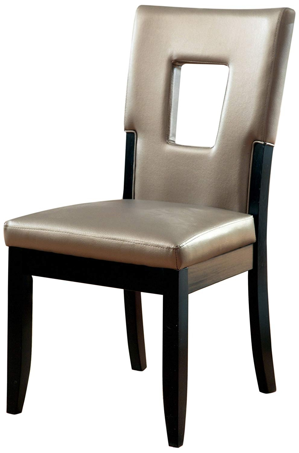 Most Popular Bowery Ii Side Chairs With Amazon – Furniture Of America Helena Leatherette Keyhole Side (View 10 of 20)