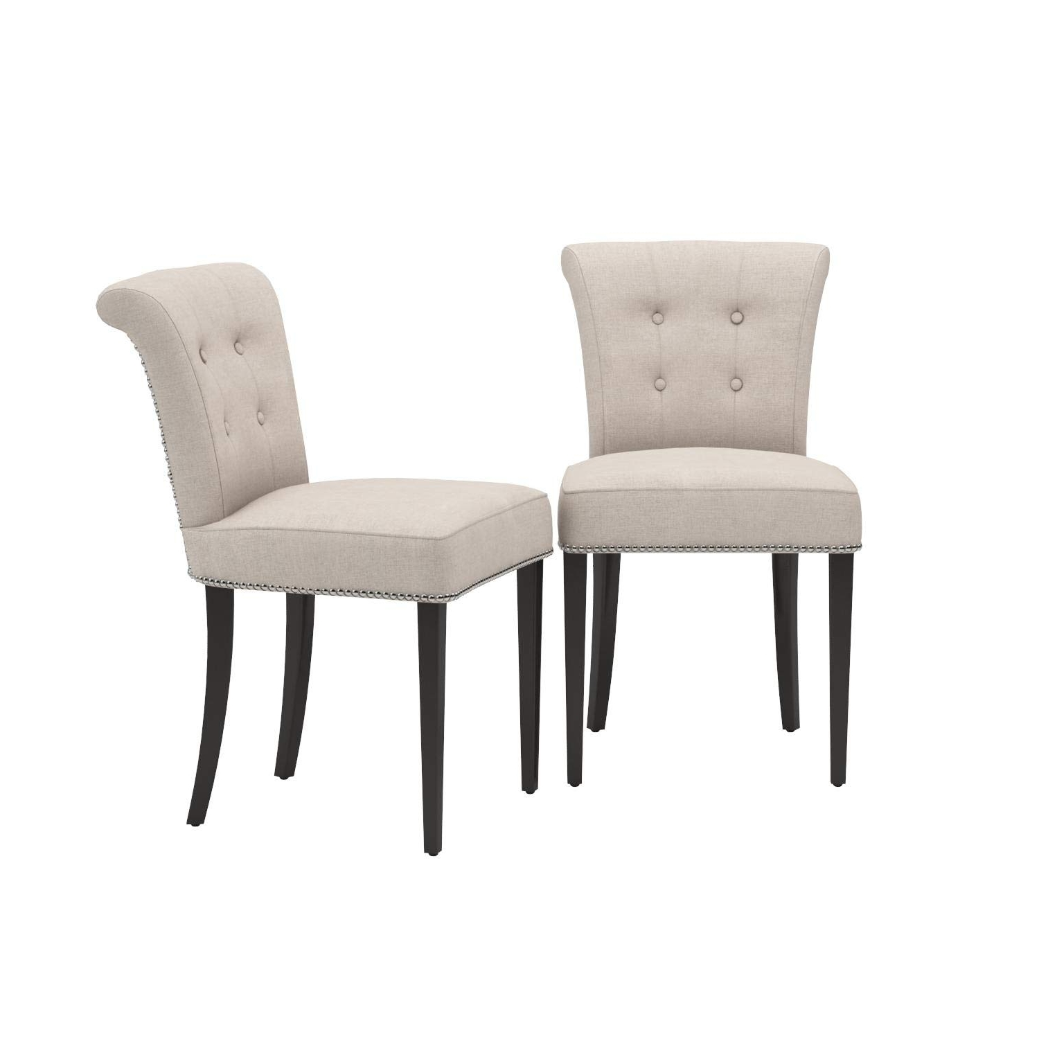 Most Popular Kyle Side Chairs With Amazon – Safavieh Mercer Collection Kyle Side Chairs, Taupe, Set (View 12 of 20)