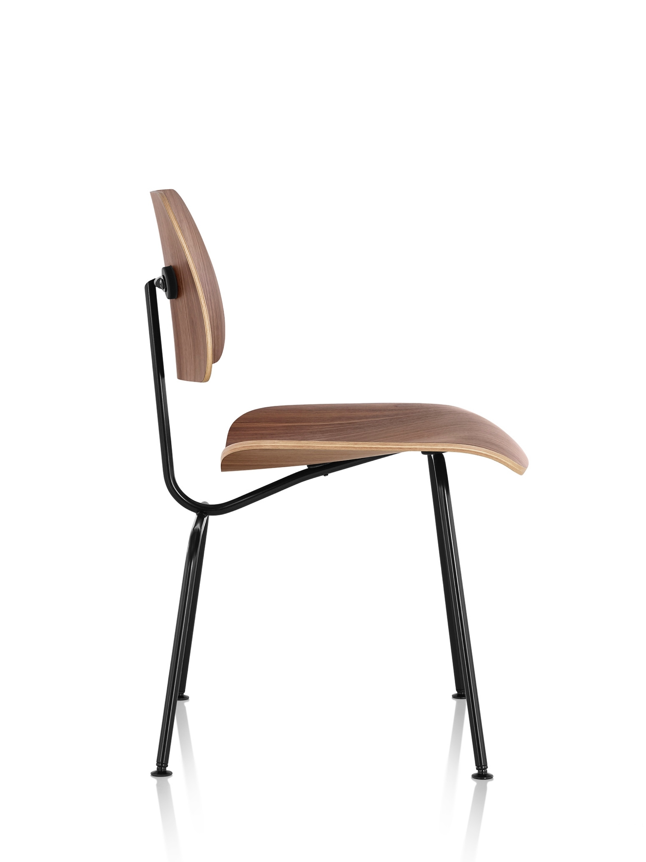 Most Popular Plywood & Metal Brown Dining Chairs In Eames Molded Plywood Dining Chair With Metal Base – Herman Miller (View 7 of 20)