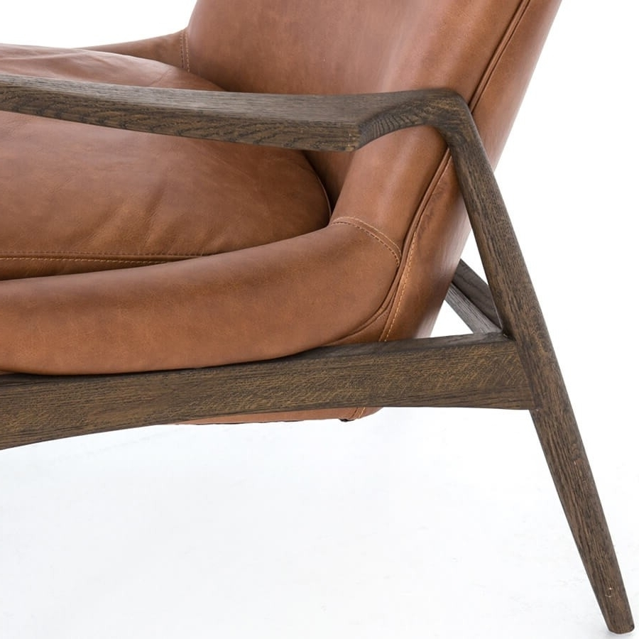 Most Recent Braden Leather Chair, Brandy – Leather – Chairs – Furniture Within Durango Smoke & Warm Cedar Dining Chairs (View 12 of 20)