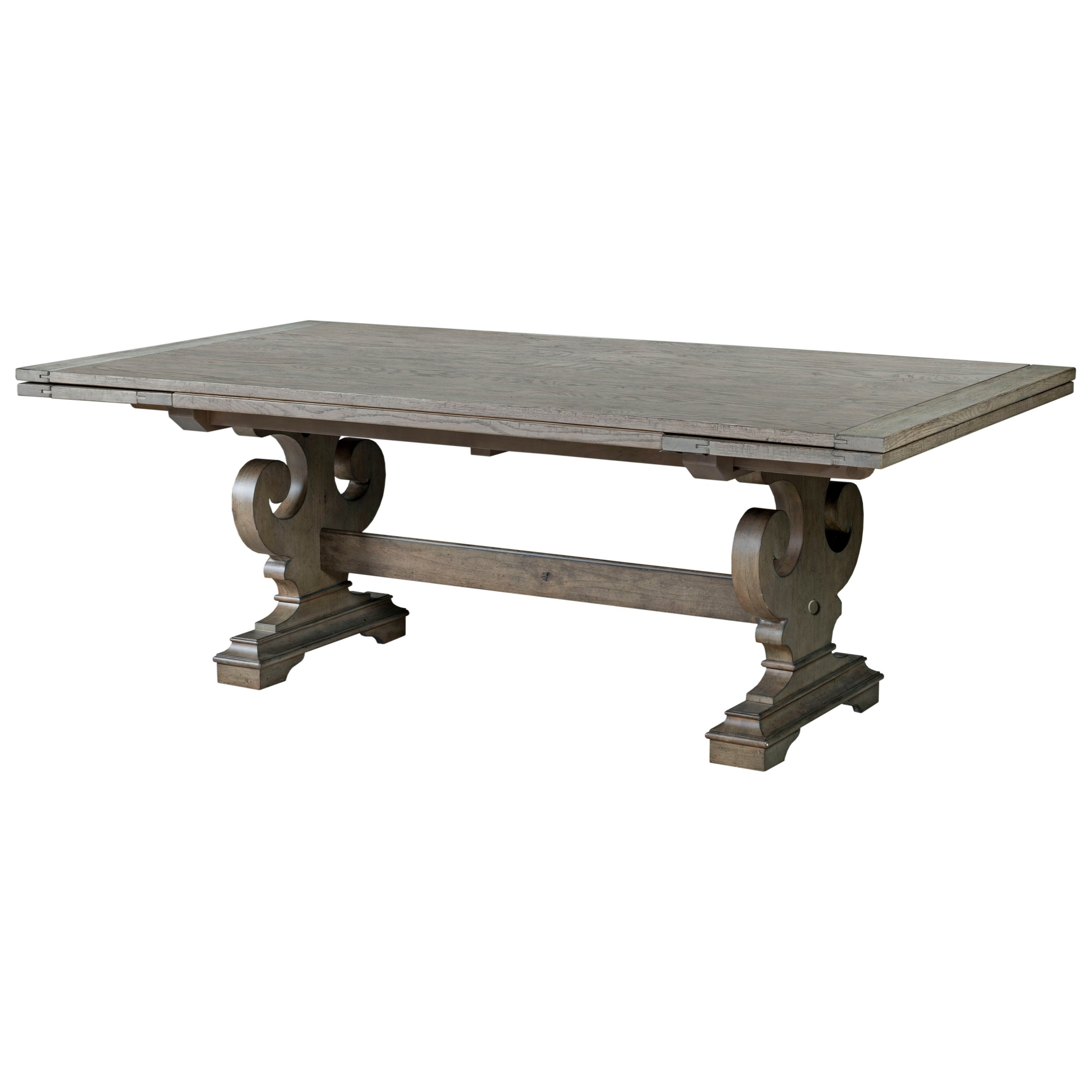 Most Recent Crawford Refectory Dining Table With Scrolled Bases And Self Storing Regarding Crawford Side Chairs (View 14 of 20)