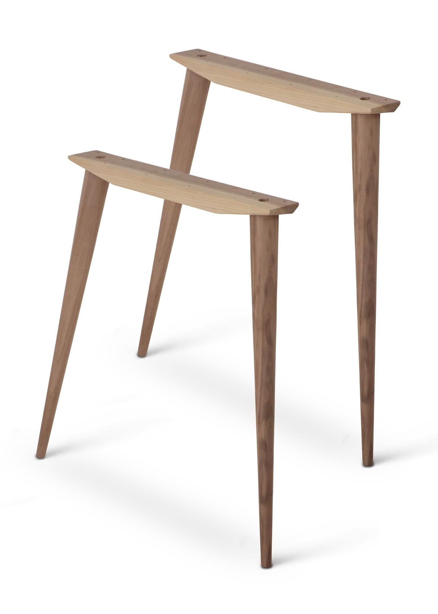 Most Recent Durango Smoke & Warm Cedar Dining Chairs Intended For Mccobb Mid Century Modern Table Base Set (4 Legs & 2 Angled Cleats (View 8 of 20)