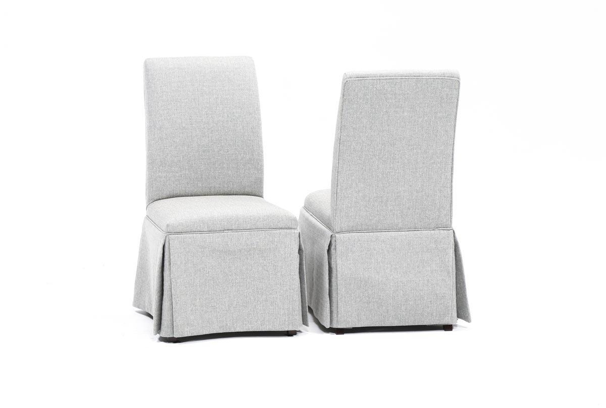 Featured Photo of Garten Pashmina Skirted Side Chairs Set Of