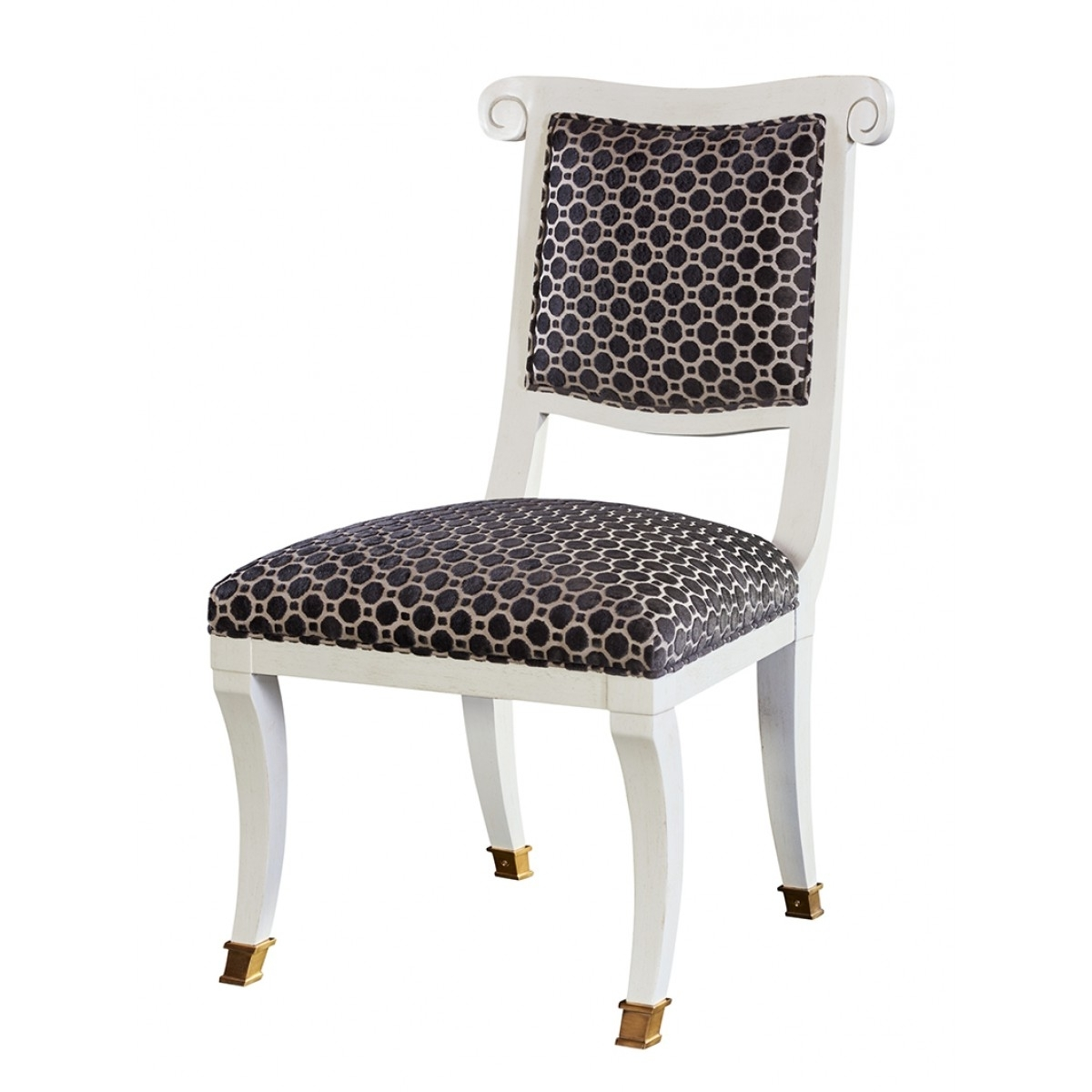 Most Recent Hickory Chair Alexa Hampton Abigail Side Chair Burnished Brass Ferrules In Alexa White Side Chairs (View 13 of 20)