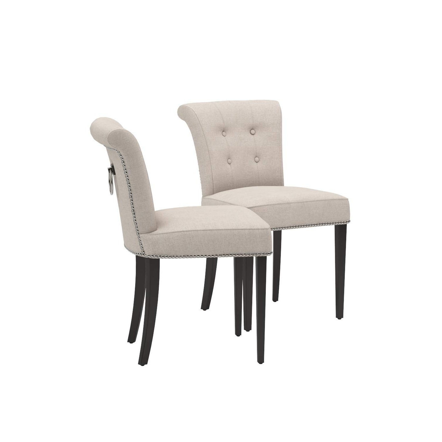 Most Recent Kyle Side Chairs Within Amazon – Safavieh Mercer Collection Kyle Side Chairs, Taupe, Set (View 13 of 20)