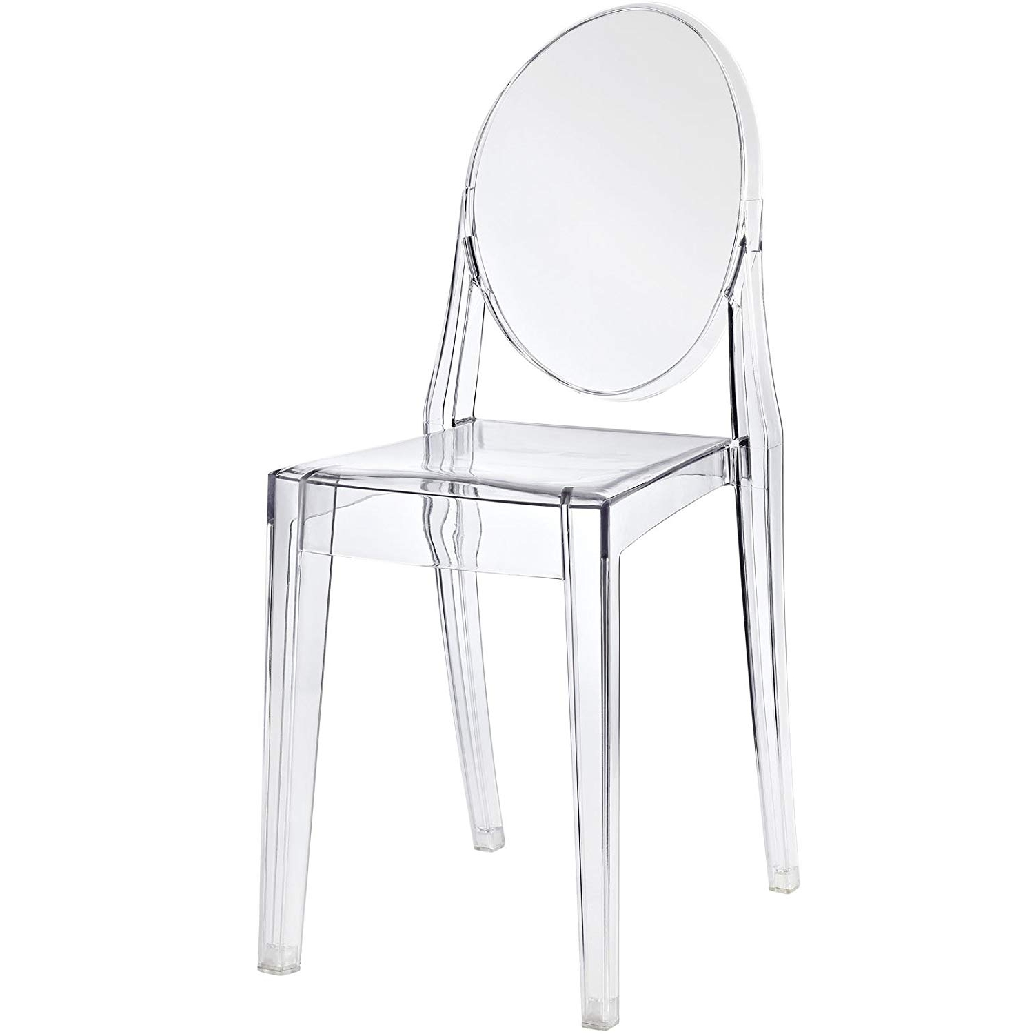 Most Recent Mandy Paper White Side Chairs Throughout Amazon – Modway Casper Dining Side Chair In Clear – Chairs (View 9 of 20)