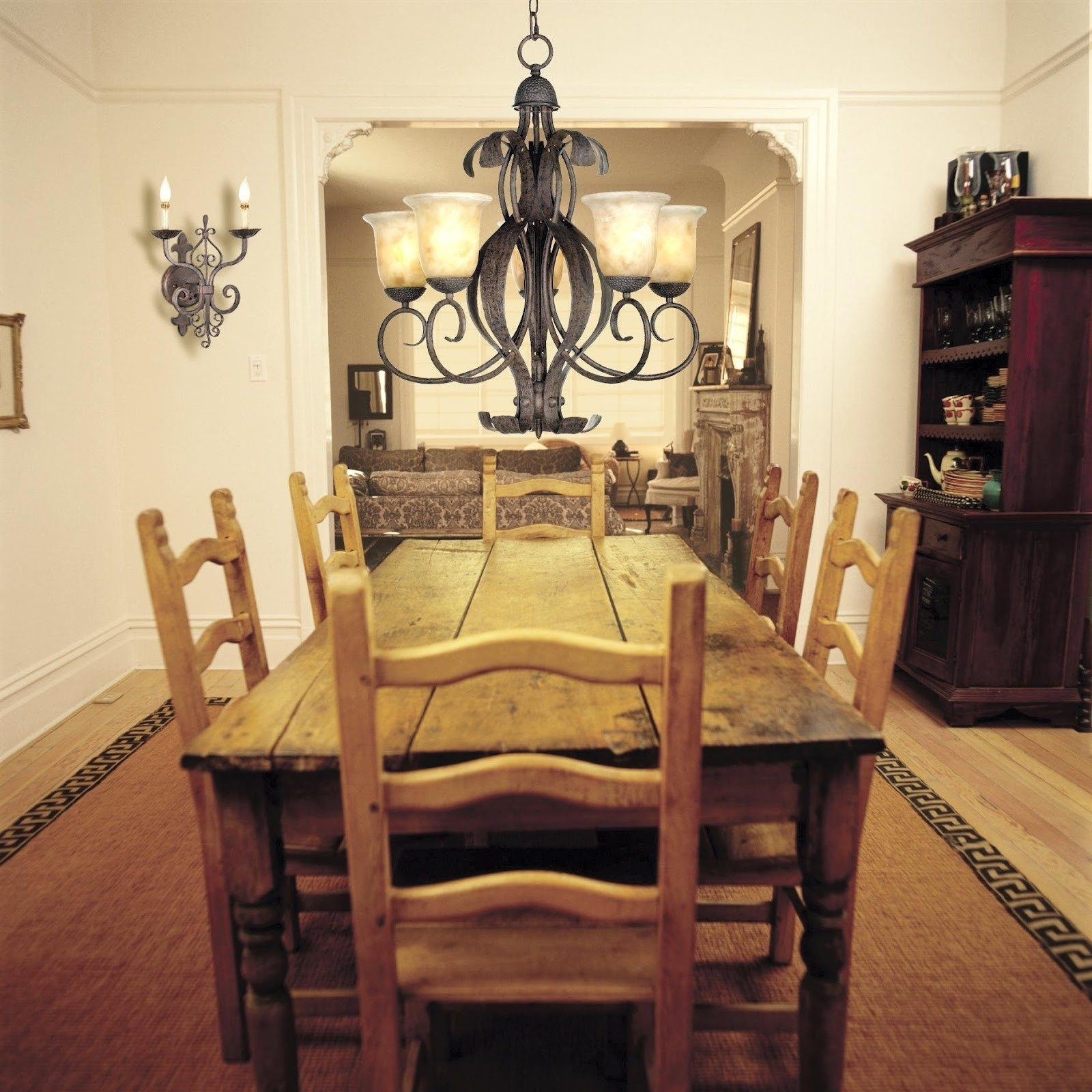 Most Recent Old Farmhouse Dining Room Lighting Square Natural Mahogany Wooden Regarding Natural Brown Teak Wood Leather Dining Chairs (View 9 of 20)