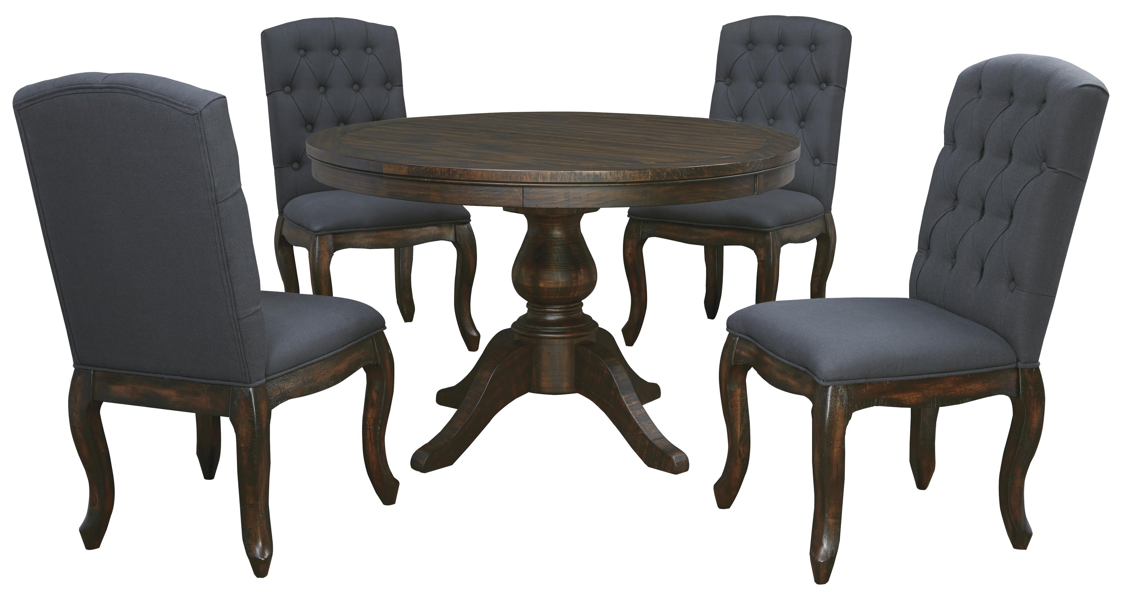 Most Recently Released 5 Piece Round Dining Table Set – Castrophotos Throughout Macie Side Chairs (View 15 of 20)